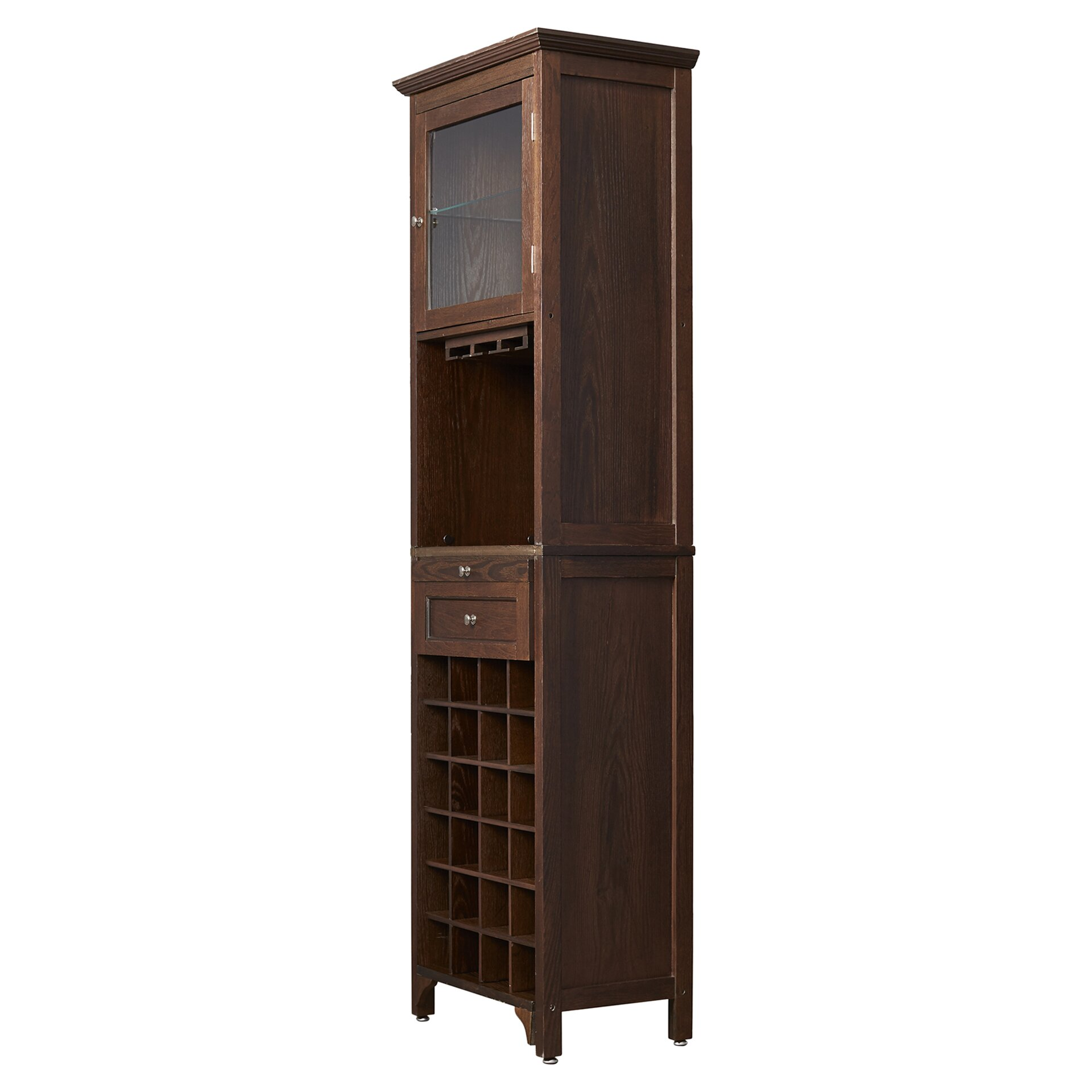 Darby home co mccar 24 bottle floor wine cabinet reviews for Floor wine cabinet