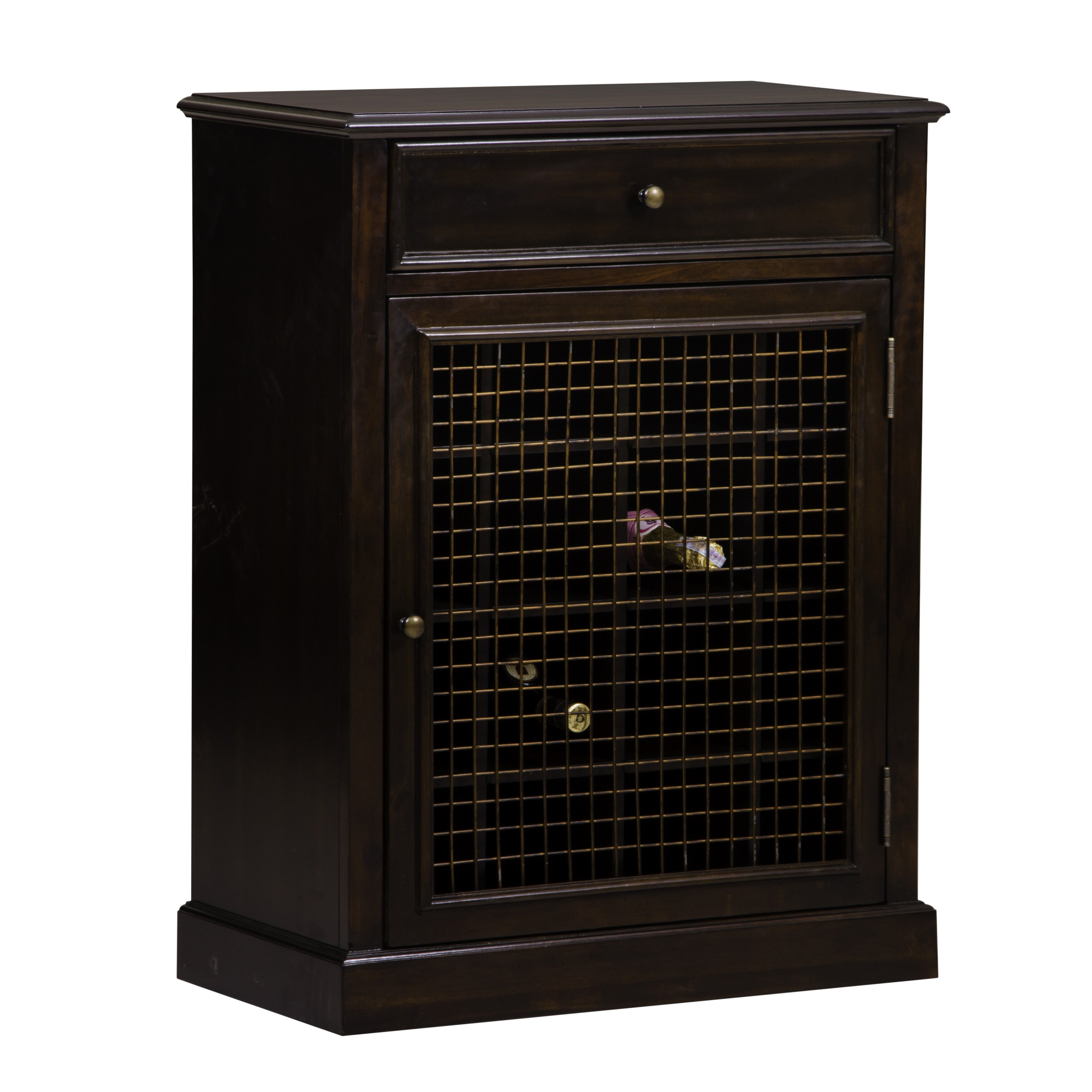 Darby home co biali 16 bottle floor wine cabinet reviews for Floor wine cabinet