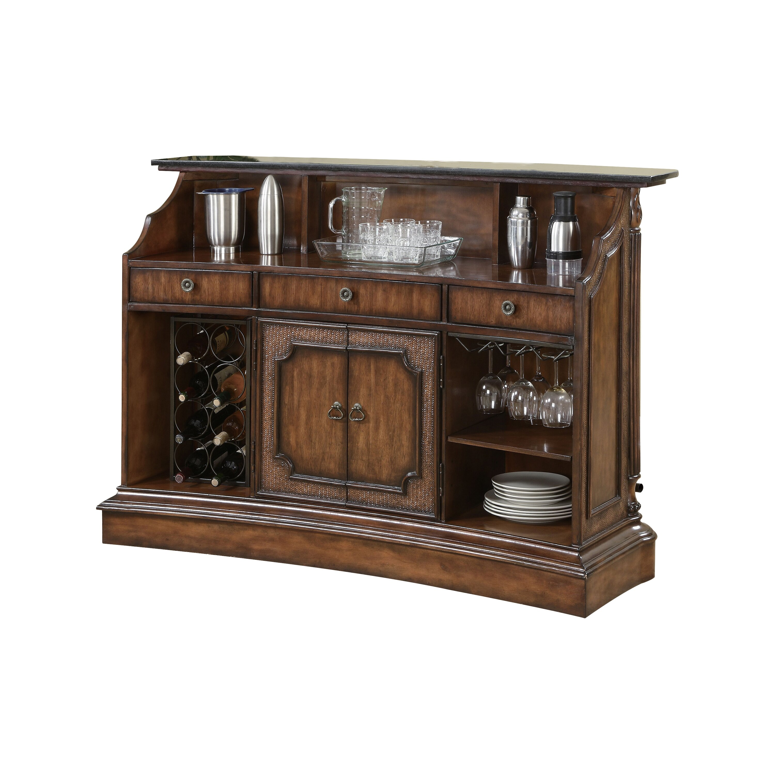 Darby Home Co Ansel Bar With Wine Storage Reviews