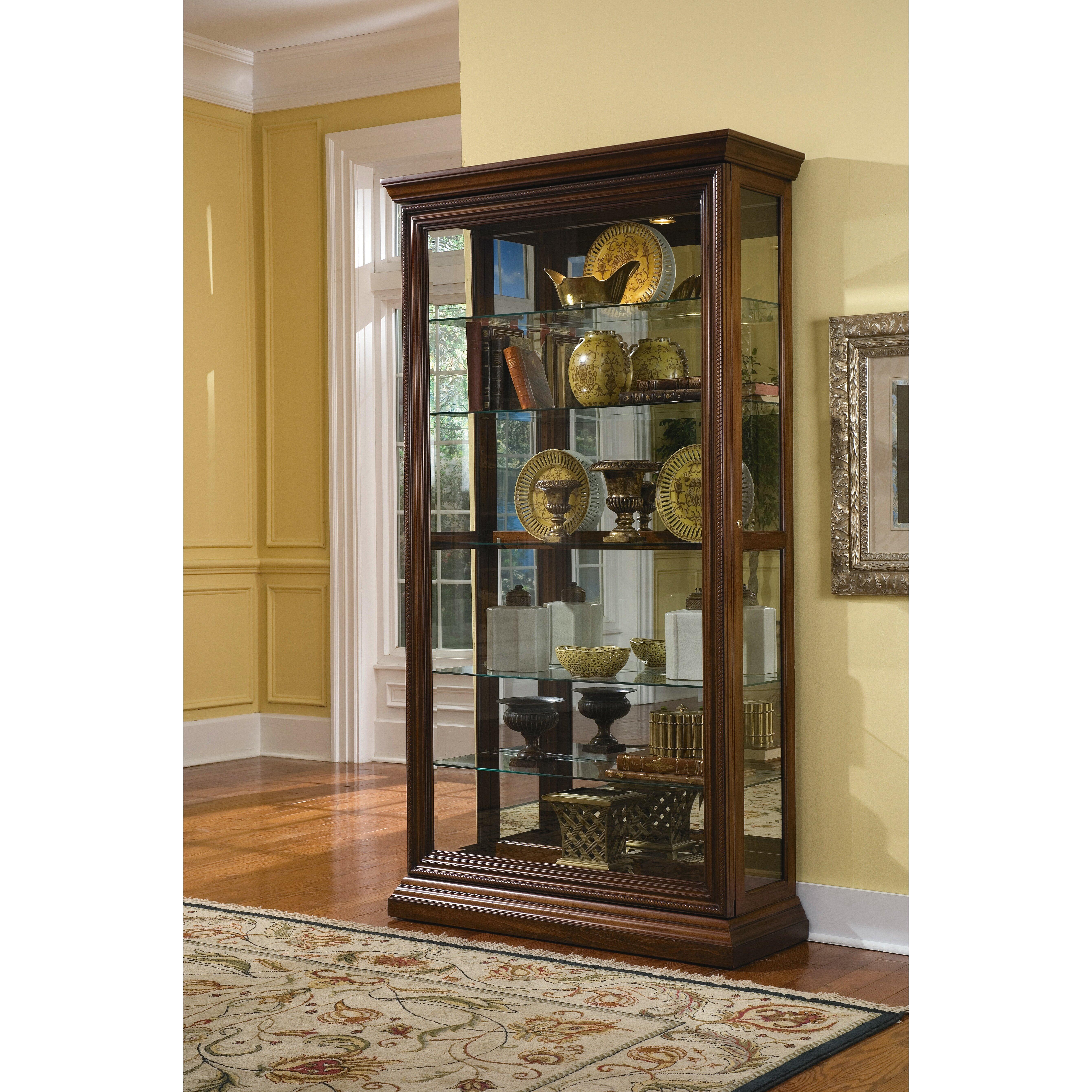 Darby home co purvoche curio cabinet reviews wayfair for Curio cabinet