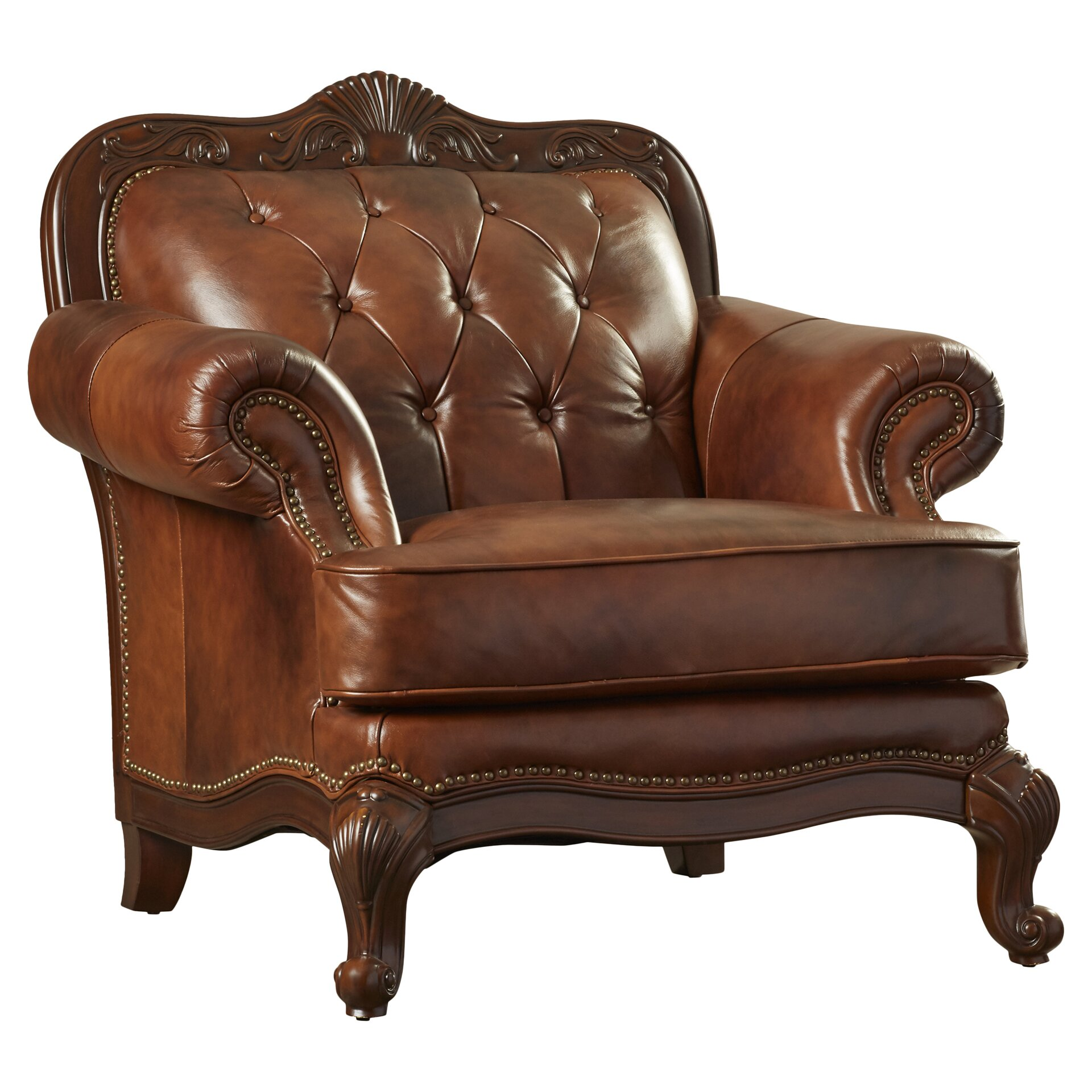 Darby Home Co Smith Leather Club Chair Reviews Wayfair