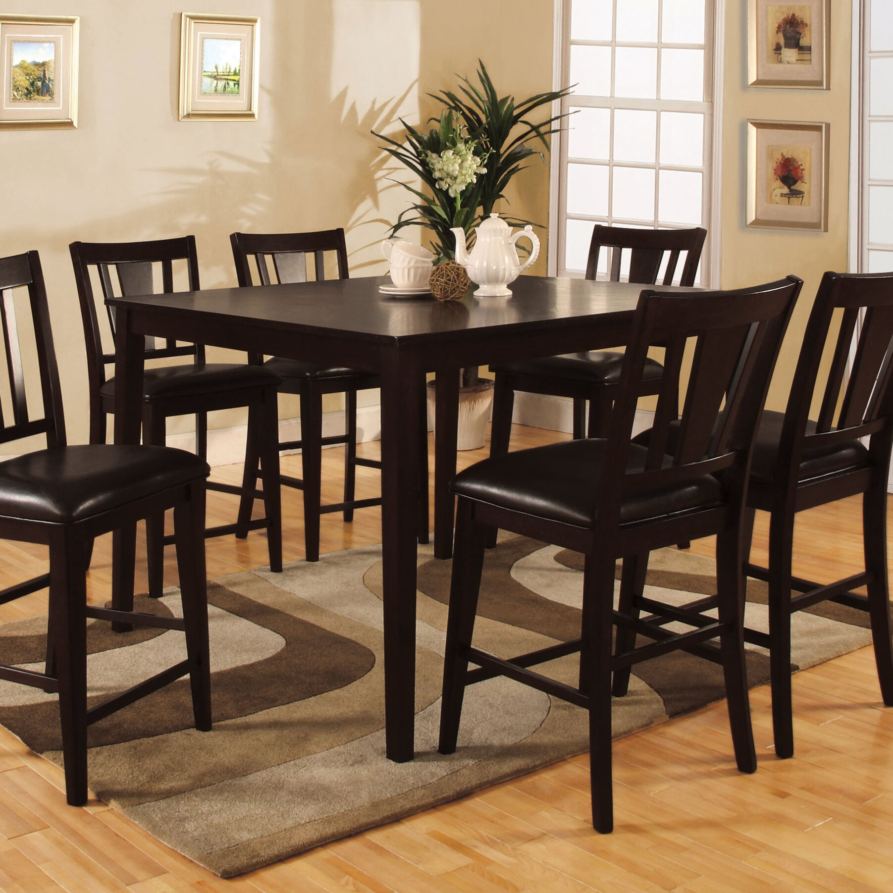 7 Piece Dinette Sets: Darby Home Co Rushford Leal 7 Piece Counter Height Dining