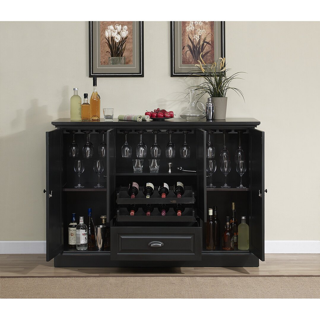 wine storage cabinet darby home co styward bar cabinet with wine storage 29317