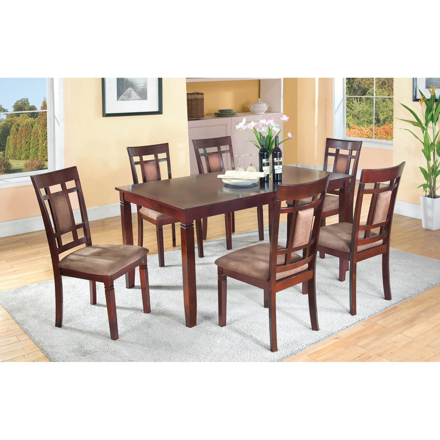 7 Piece Dining Room Set: Darby Home Co Patrick 7 Piece Dining Set & Reviews