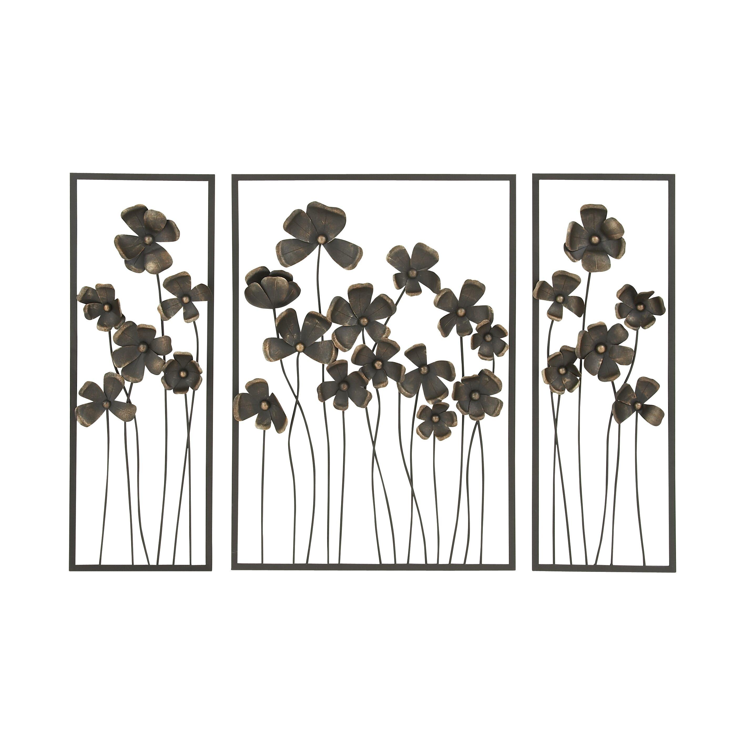 darby home co 3 piece wall d cor set reviews wayfair. Black Bedroom Furniture Sets. Home Design Ideas