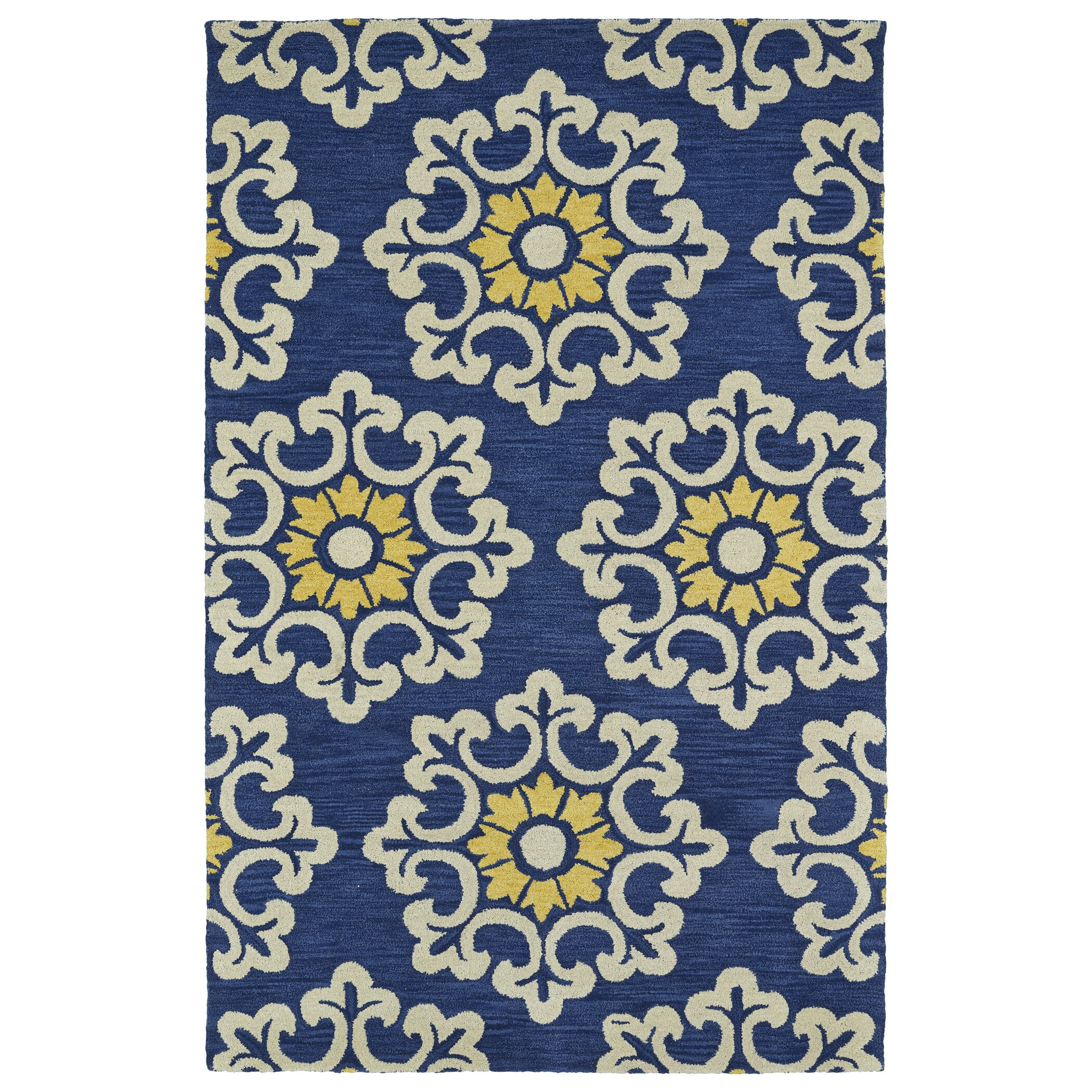 Darby Home Co Tunstall Hand-Tufted Blue Area Rug