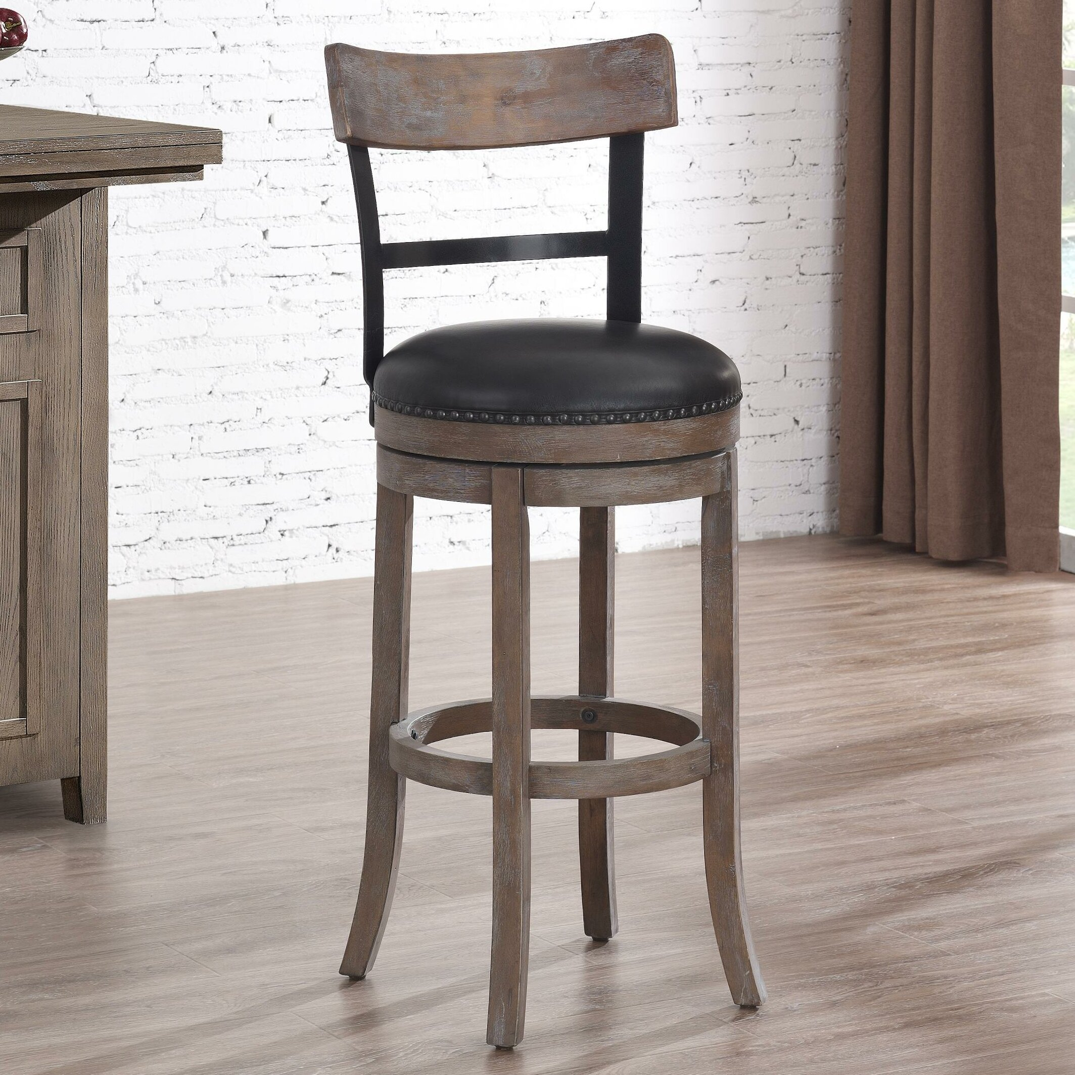 Darby Home Co Carondelet 34 Quot Swivel Tall Bar Stool With