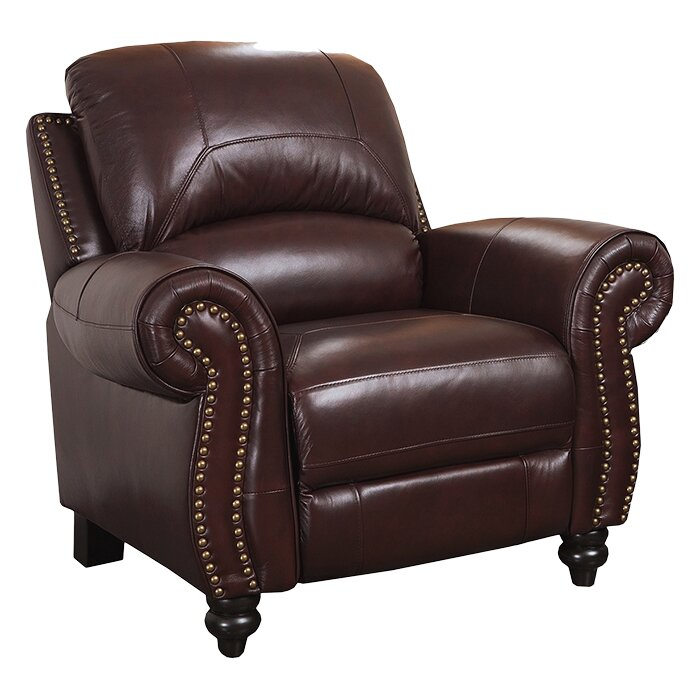 darby home co kahle leather arm chair recliner reviews wayfair. Black Bedroom Furniture Sets. Home Design Ideas