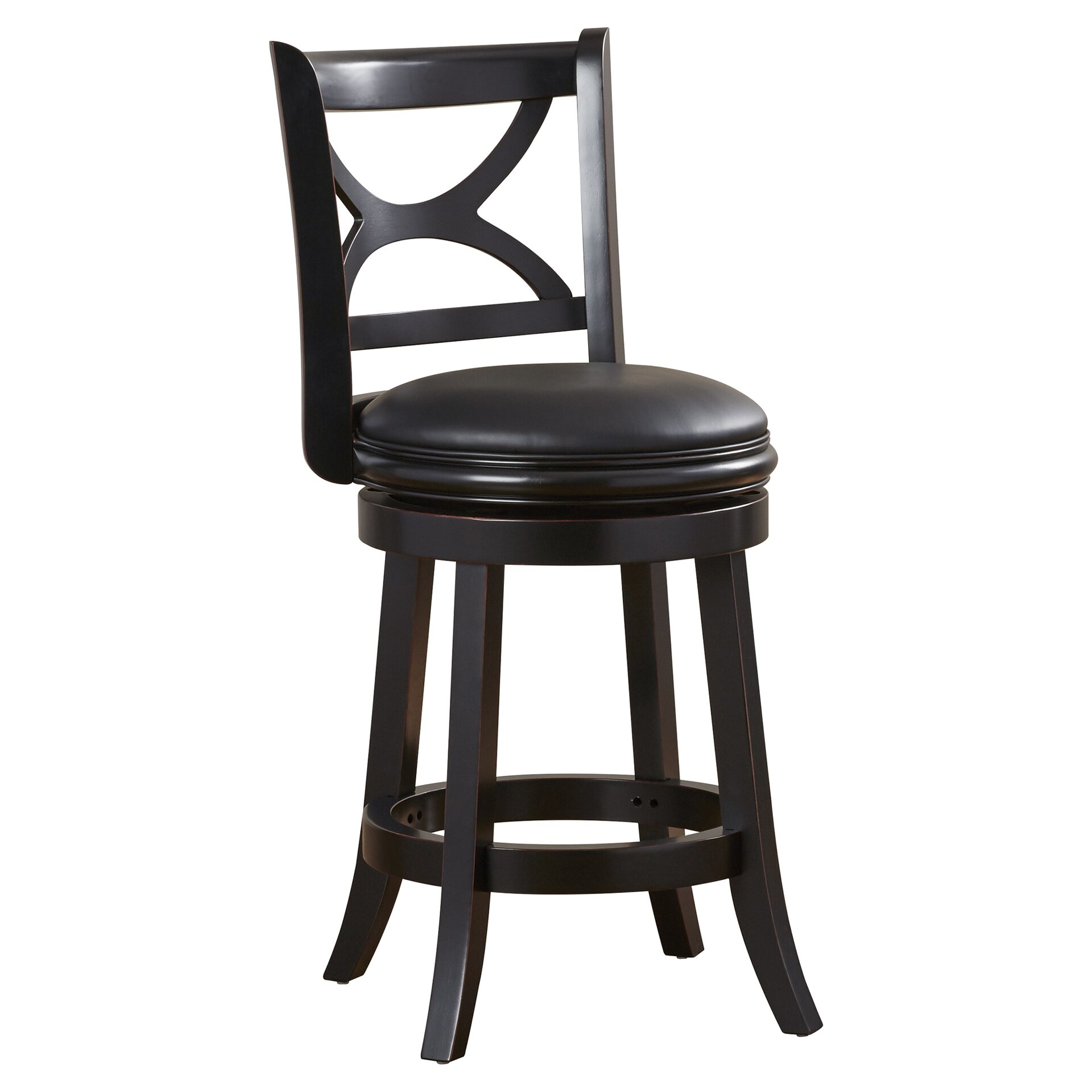 """Darby Home Co Florence 24"""" Swivel Bar Stool & Reviews"""