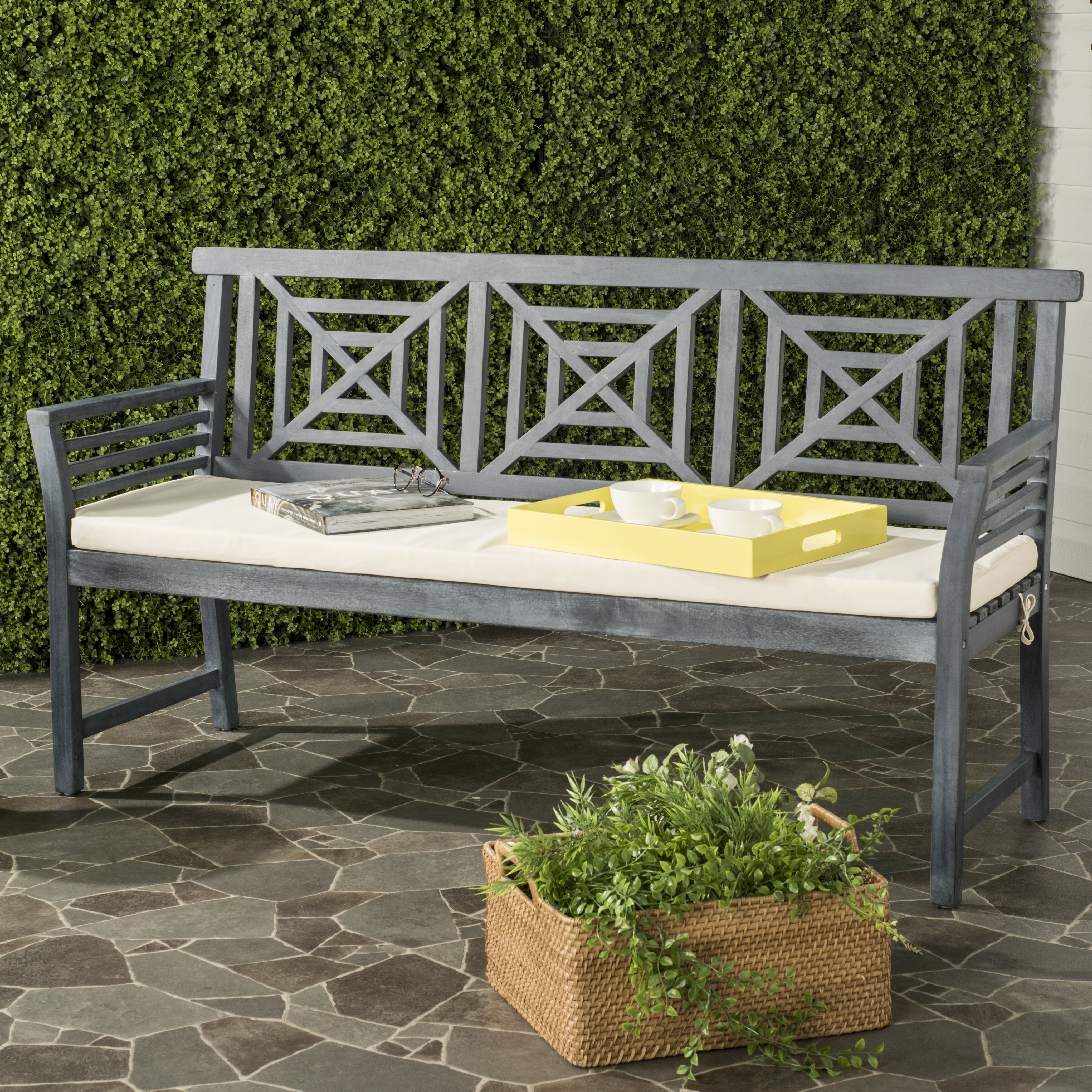 Darby Home Co Garrity 3 Seat Acacia And Polyester Garden