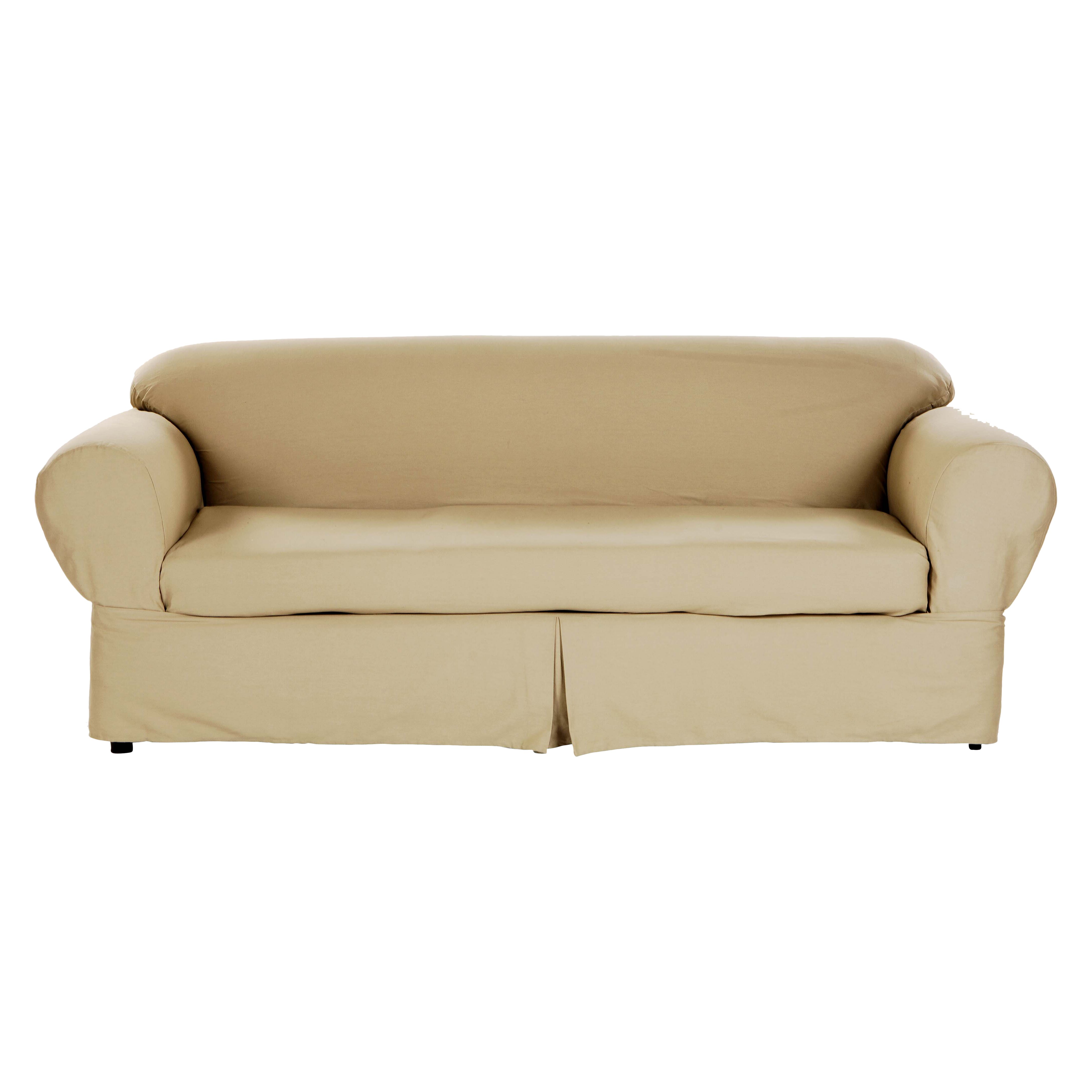 Darby home co brushed twill sofa slipcover reviews wayfair Cover for loveseat