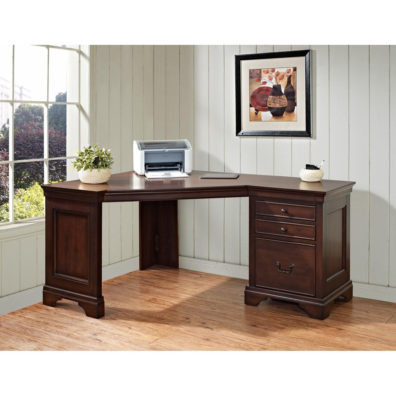 Corner Computer Desk: Darby Home Co Vanguilder Corner Executive Desk & Reviews