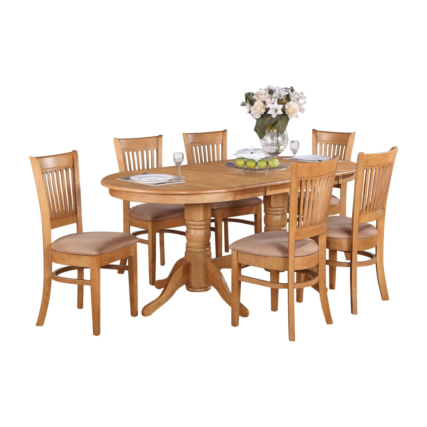 Darby home co rockdale 7 piece dining set reviews for 2 piece dining room set