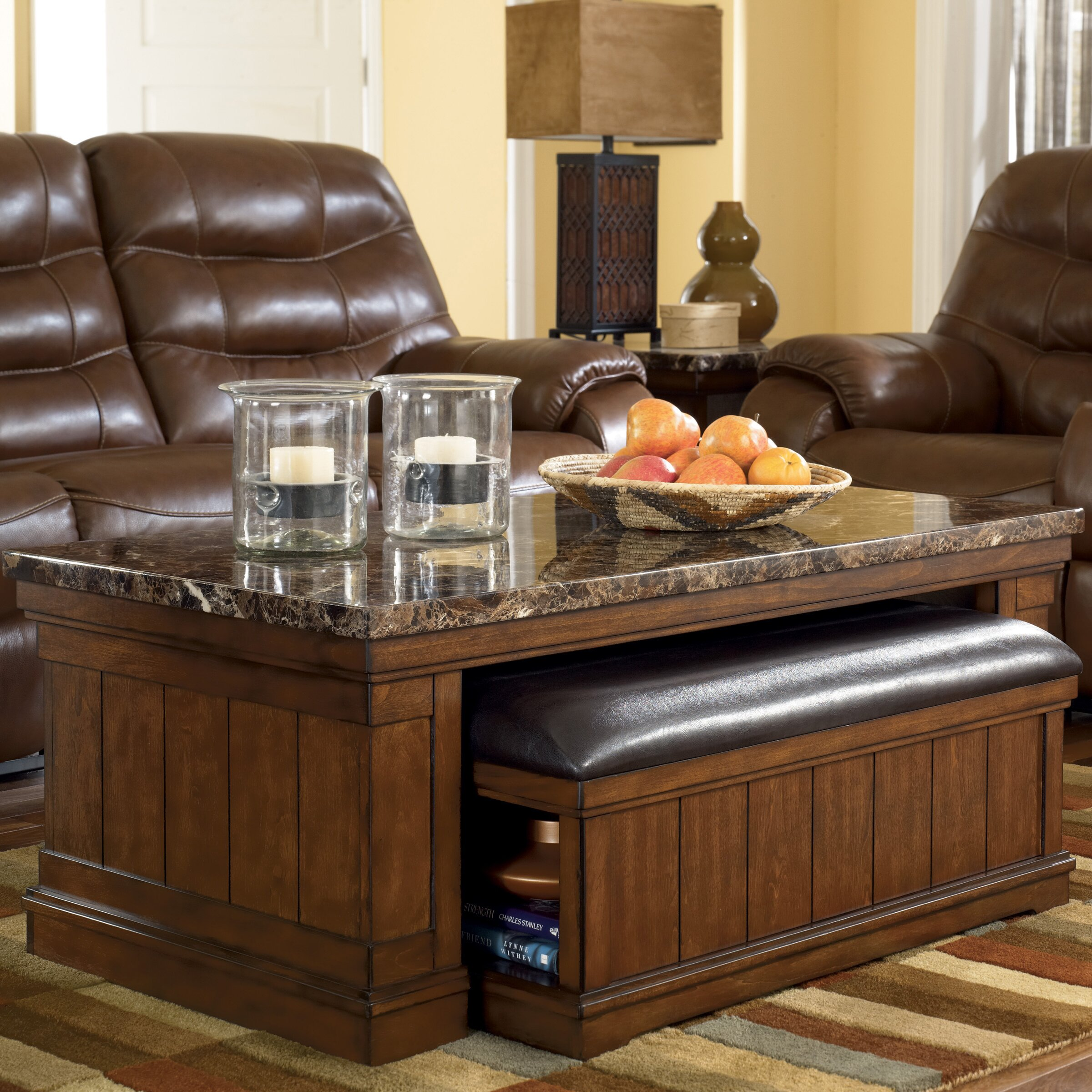 Darby Home Co Hodgkinson Coffee Table With Ottoman