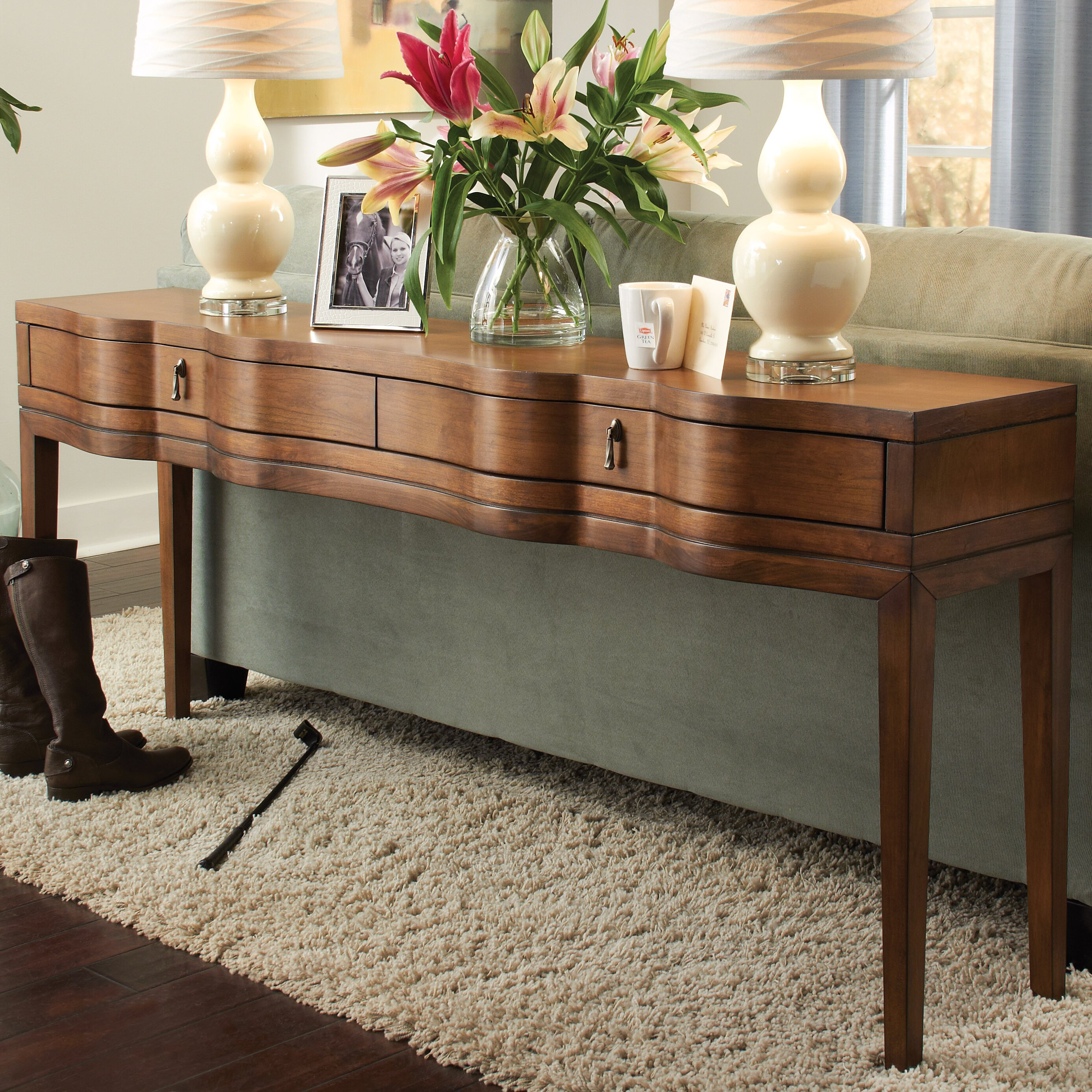 darby home co skelley console table reviews wayfair. Black Bedroom Furniture Sets. Home Design Ideas