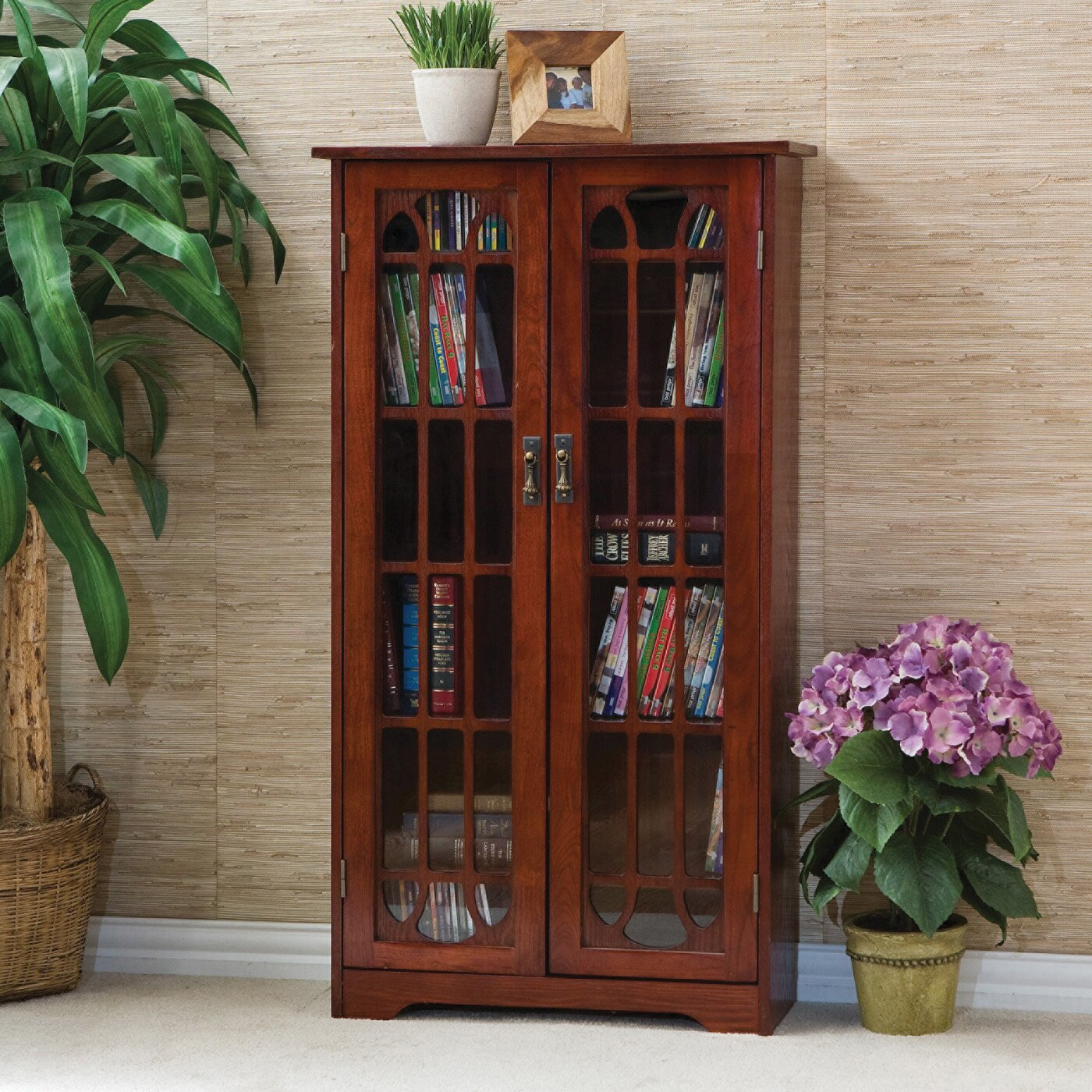 Darby Home Co Window Pane Multimedia Cabinet & Reviews