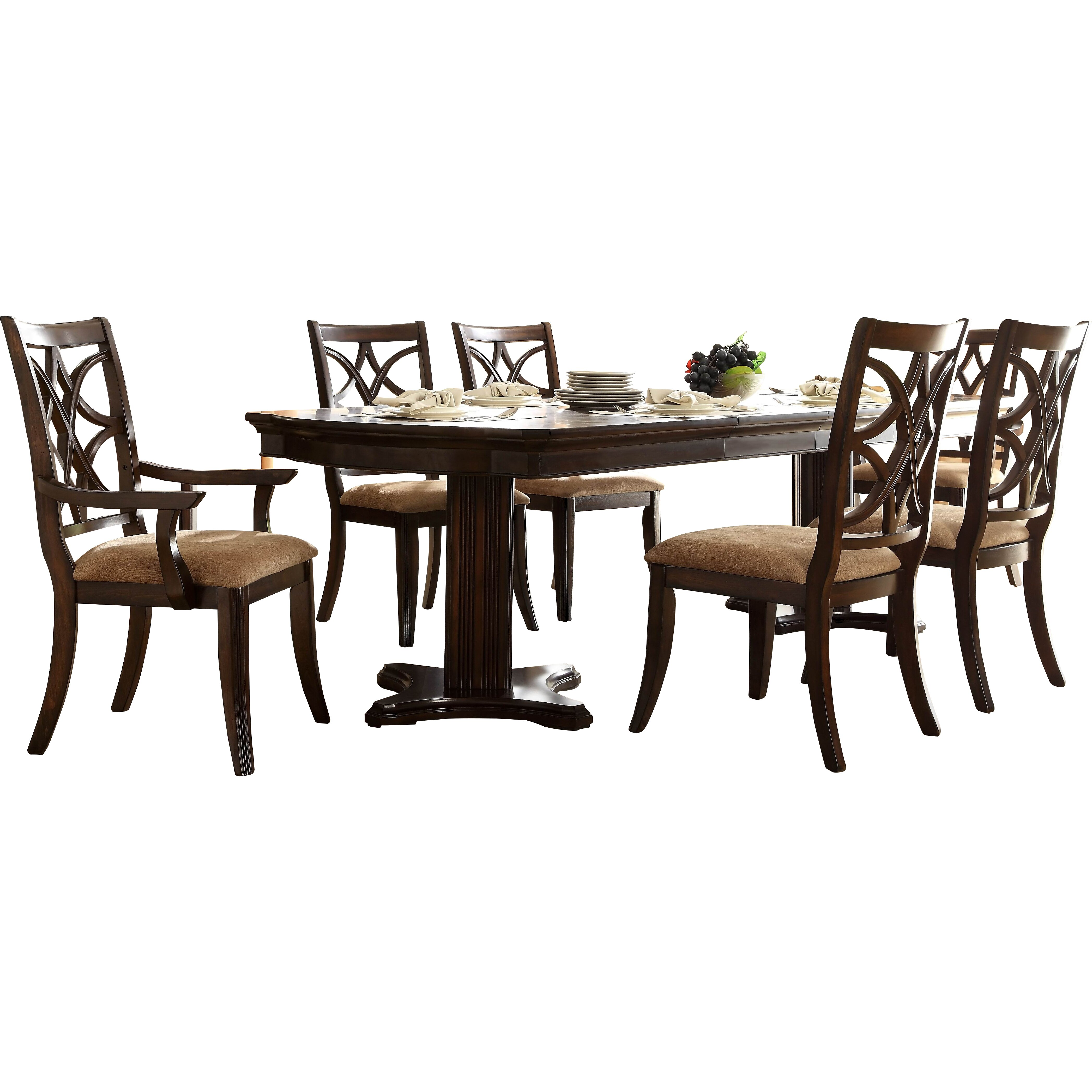 Dining Furniture 7 Piece Kitchen & Dining Room Sets Darby Home Co. Full resolution  portrait, nominally Width 4187 Height 4187 pixels, portrait with #965F35.