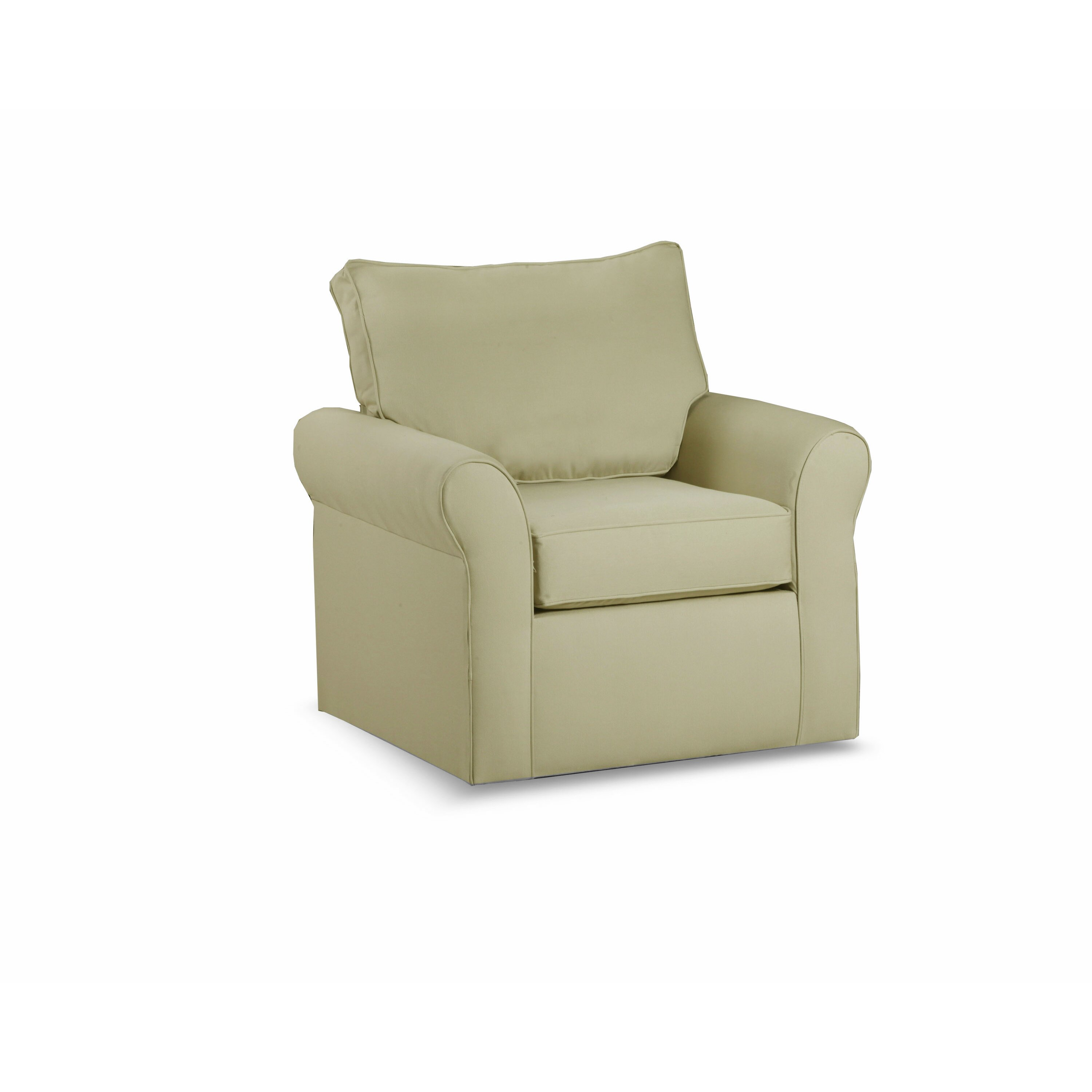 Darby home co adelina swivel arm chair reviews wayfair for Swivel accent chairs with arms