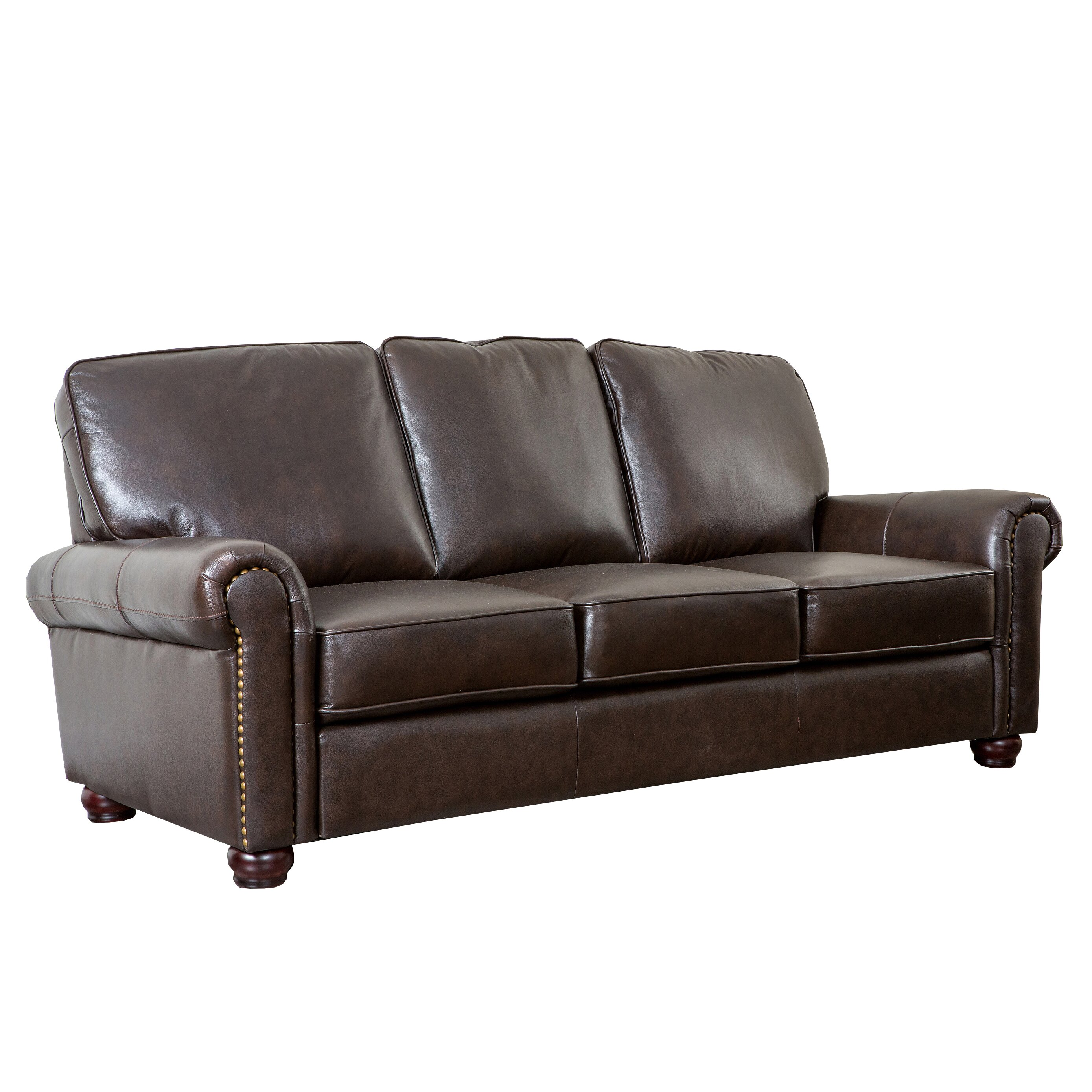 Darby home co coggins leather sofa reviews wayfair for Leather sofa reviews