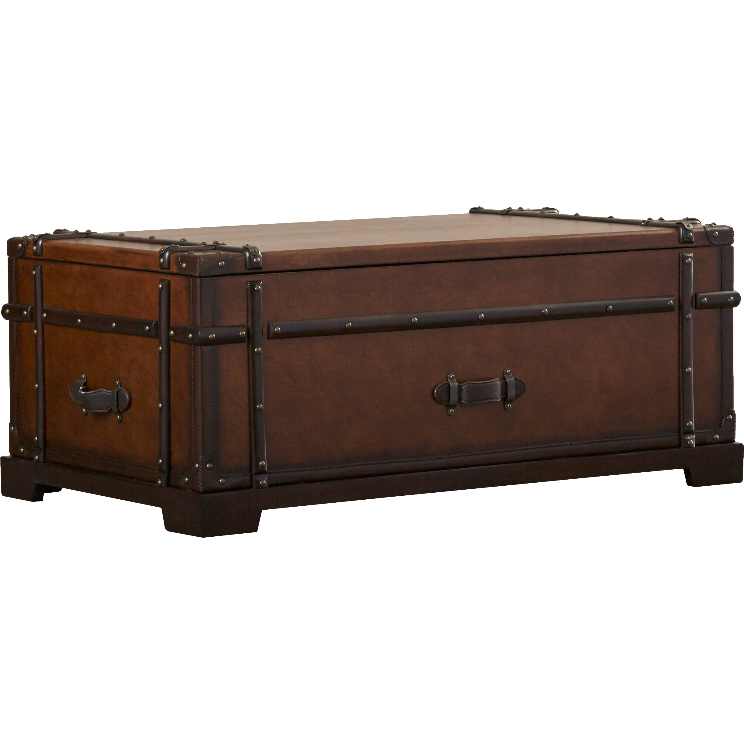 Barrett Trunk Coffee Table With Lift Top: Darby Home Co Delavan Steamer Coffee Table Trunk With Lift