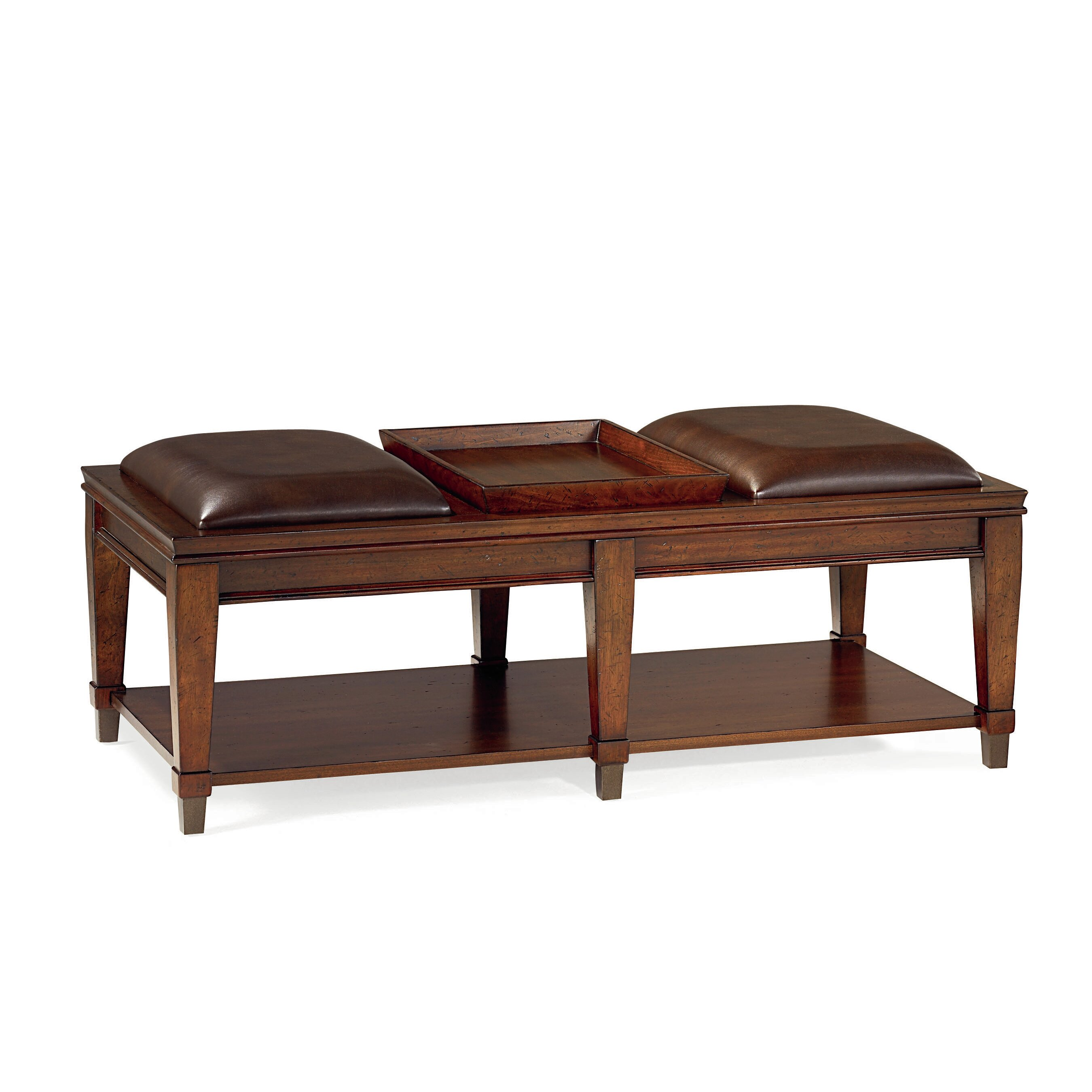 Darby Home Co Fitzhugh Coffee Table With Tray Top Reviews Wayfair