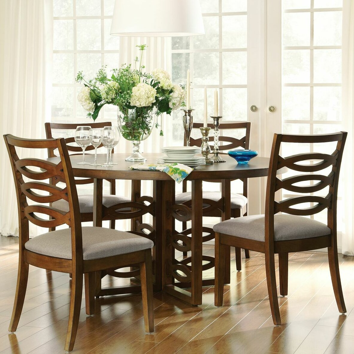 Dining Furniture 5 Piece Kitchen & Dining Room Sets Darby Home Co. Full resolution  portrait, nominally Width 1182 Height 1182 pixels, portrait with #2E7289.