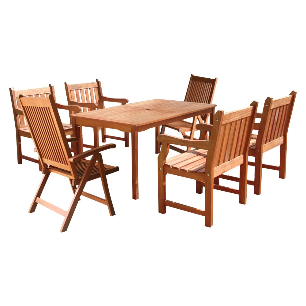 Darby home co ehlert 7 piece dining set reviews wayfair for 7 piece dining set