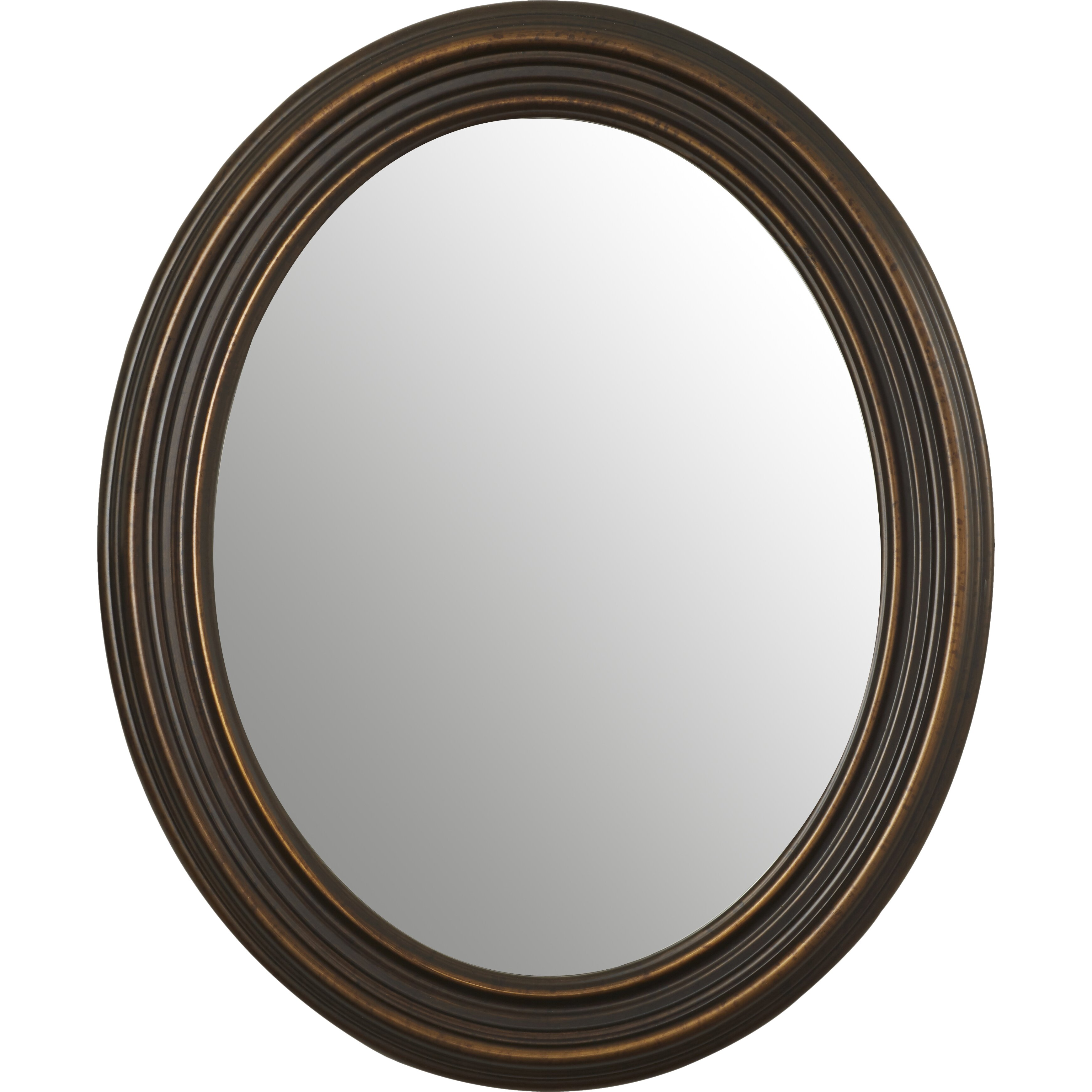 Darby home co burnes oval wall mirror reviews wayfair for Oval wall mirror