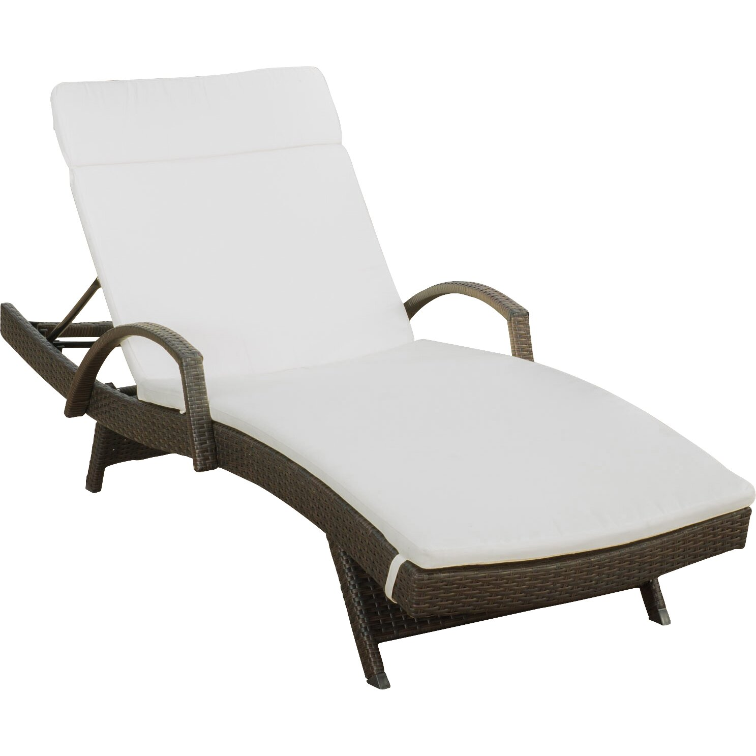 Darby home co luther chaise lounge with cushion reviews for Chaise lounge company