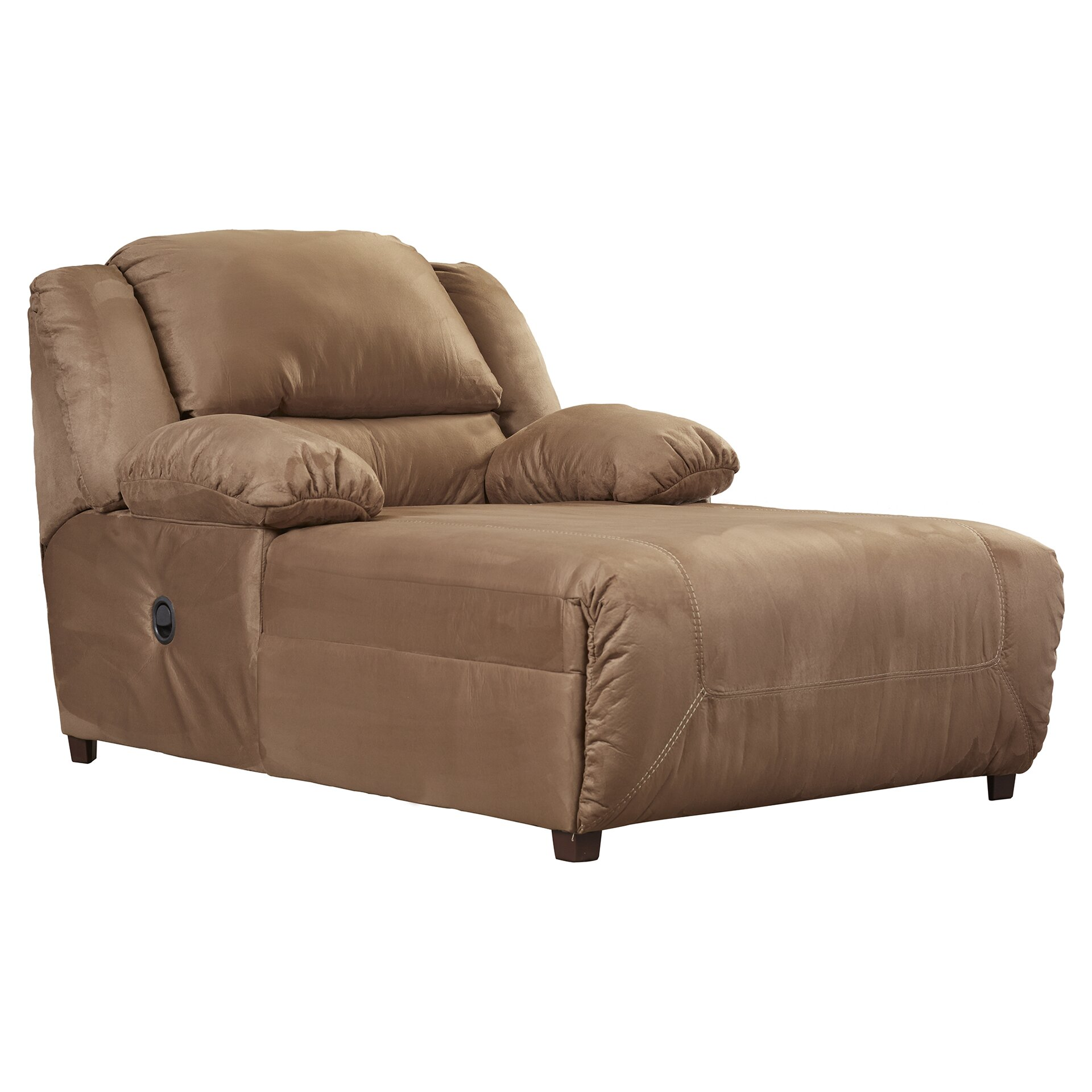Darby home co jimenes microfiber chaise recliner reviews for Chaise and recliner