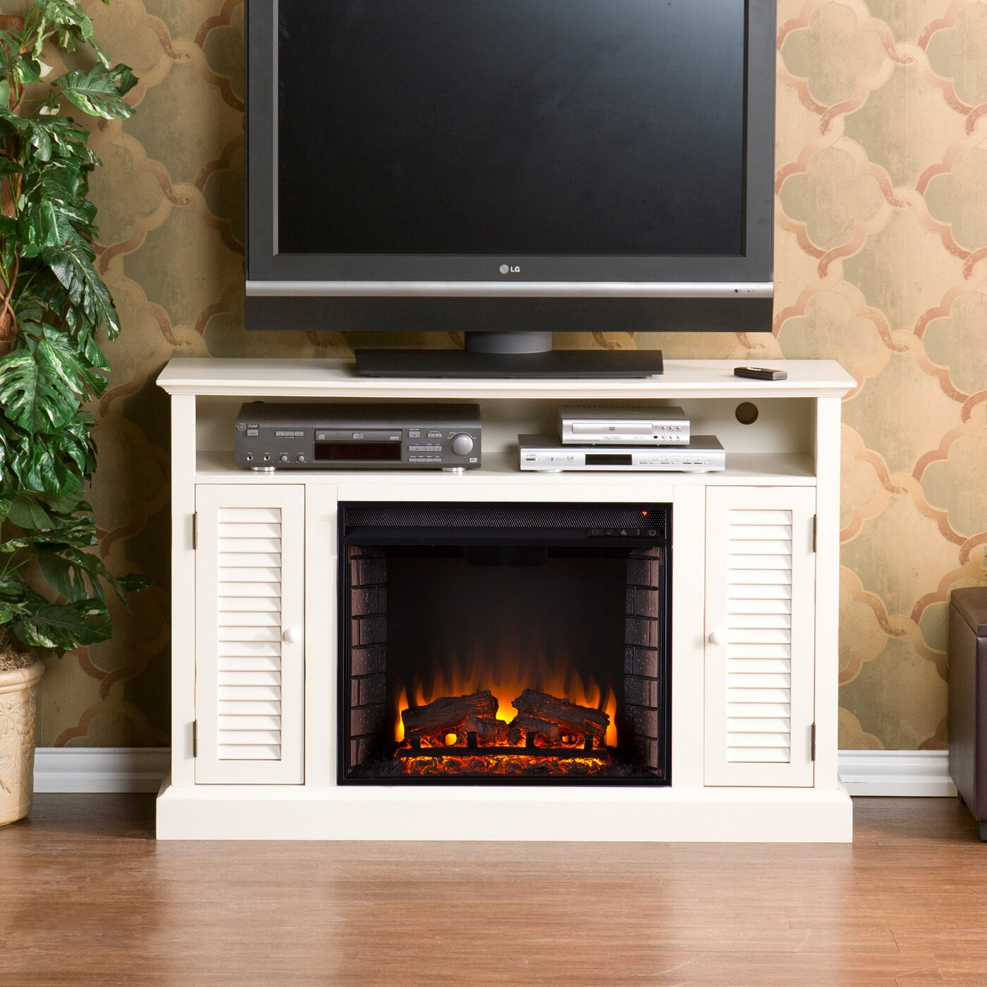 Darby Home Co Ginsberg TV Stand with Electric Fireplace ...