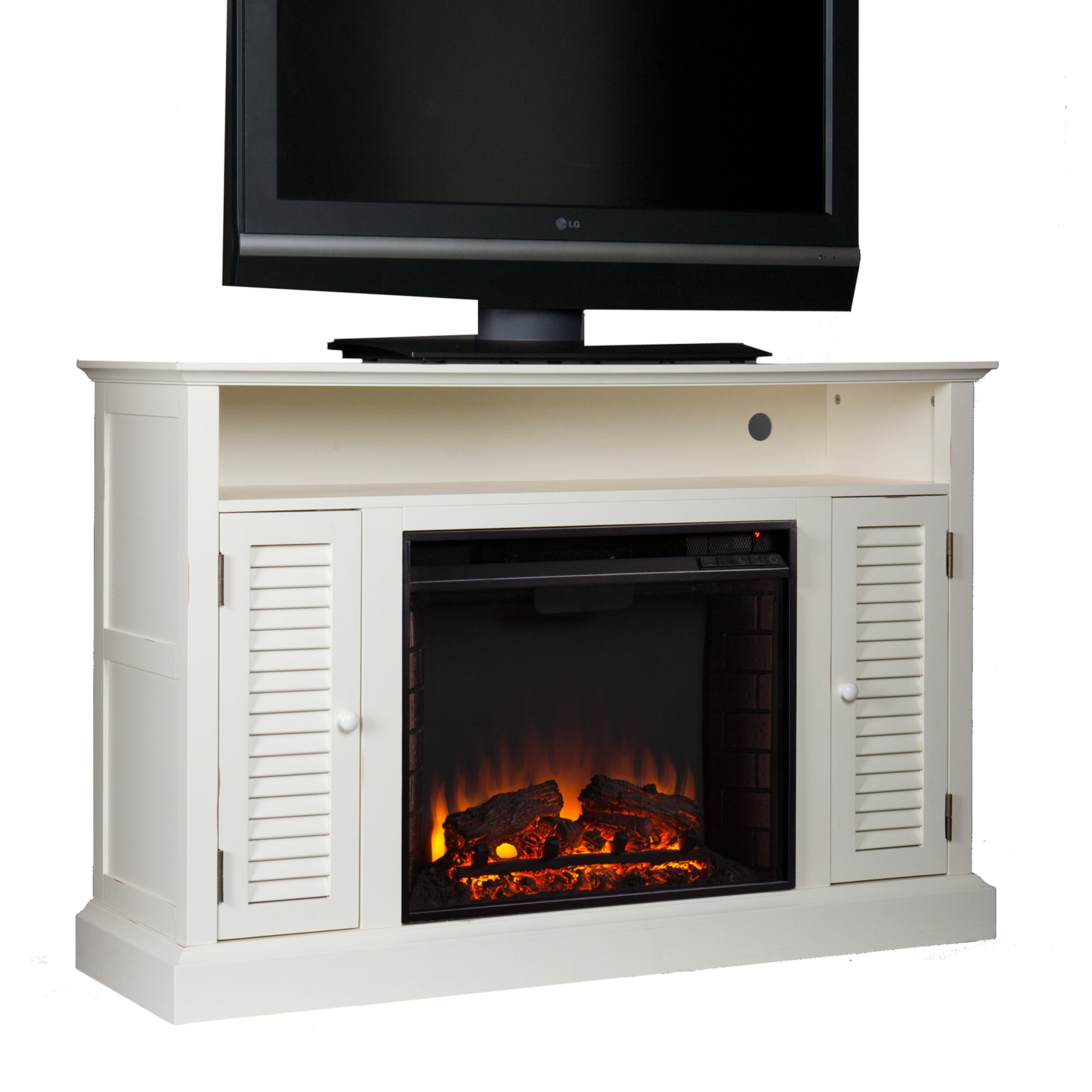 Darby Home Co Ginsberg Tv Stand With Electric Fireplace Reviews Wayfair
