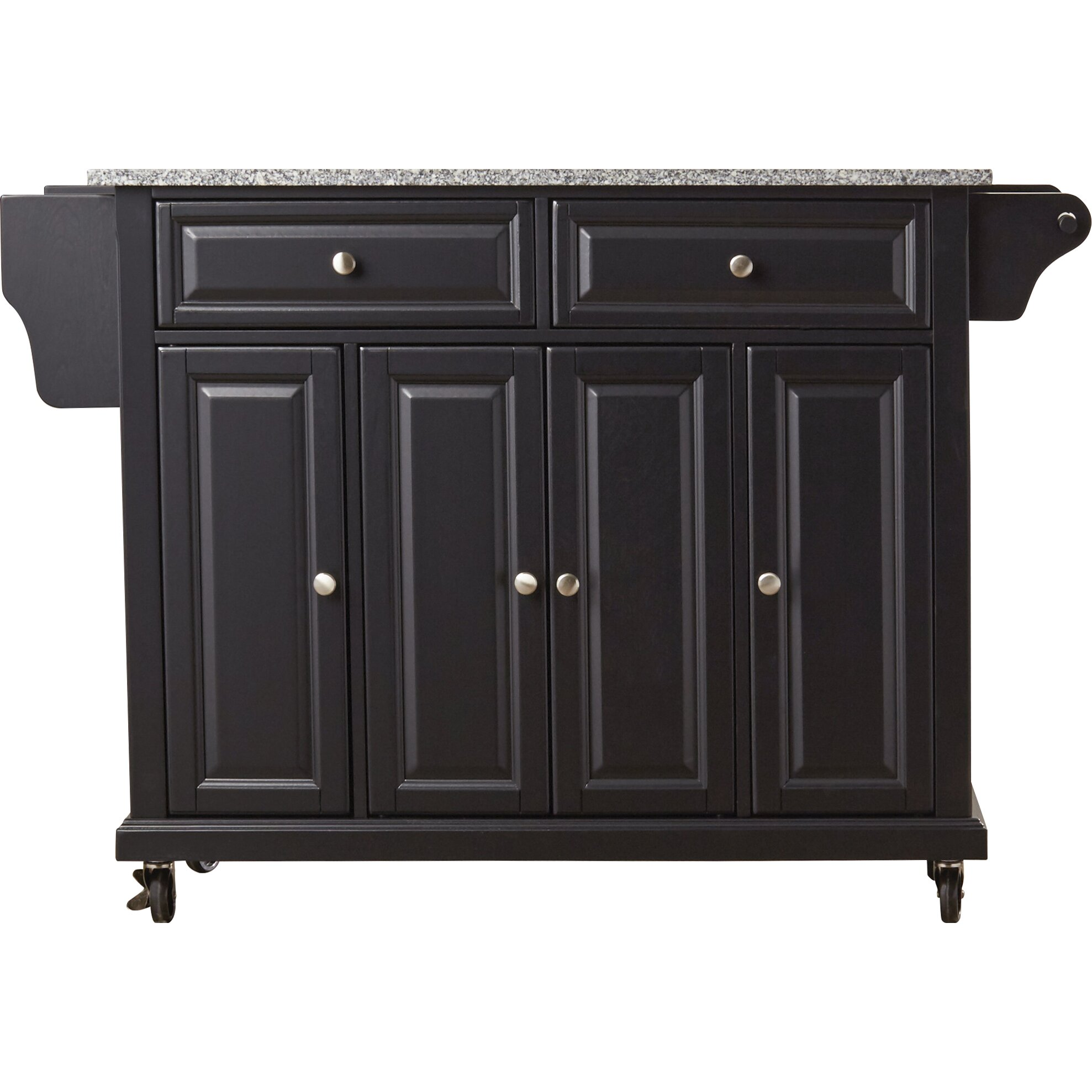 Darby Home Co Pottstown Kitchen Cart Island With Granite Top Reviews Wayfair