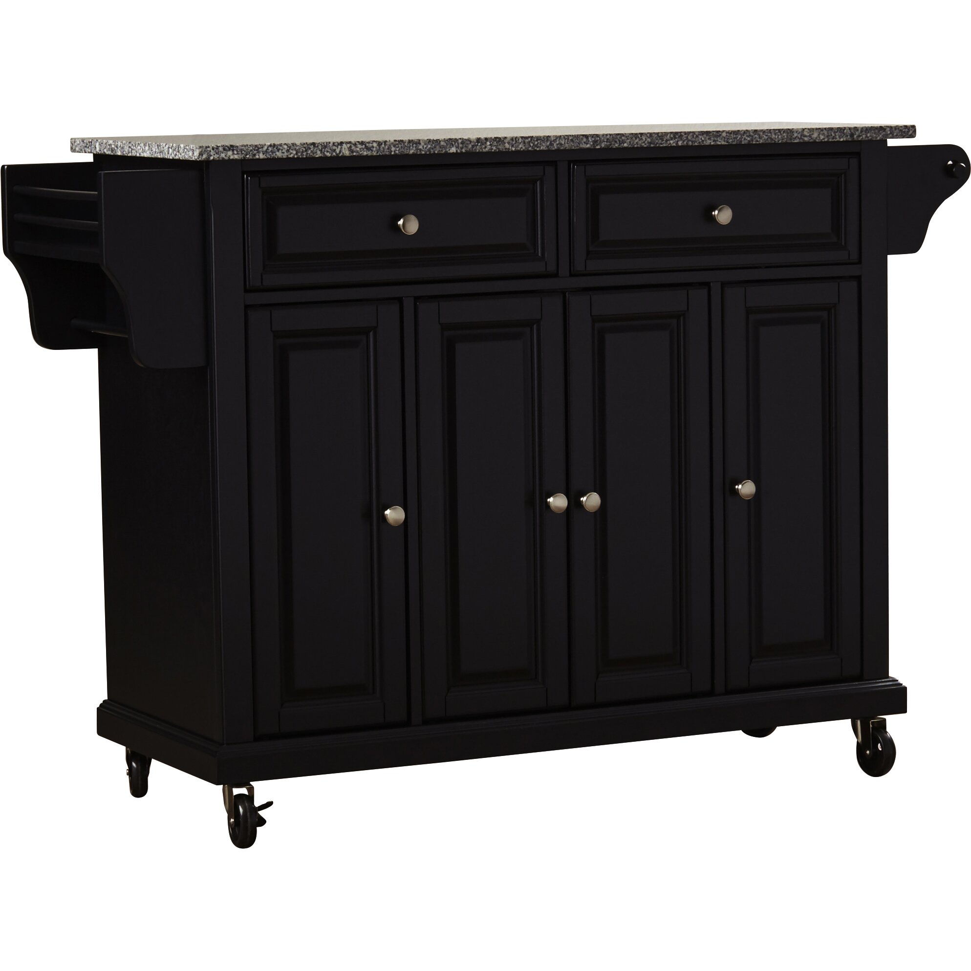 kitchen island cart granite top darby home co pottstown kitchen cart island with granite 24750