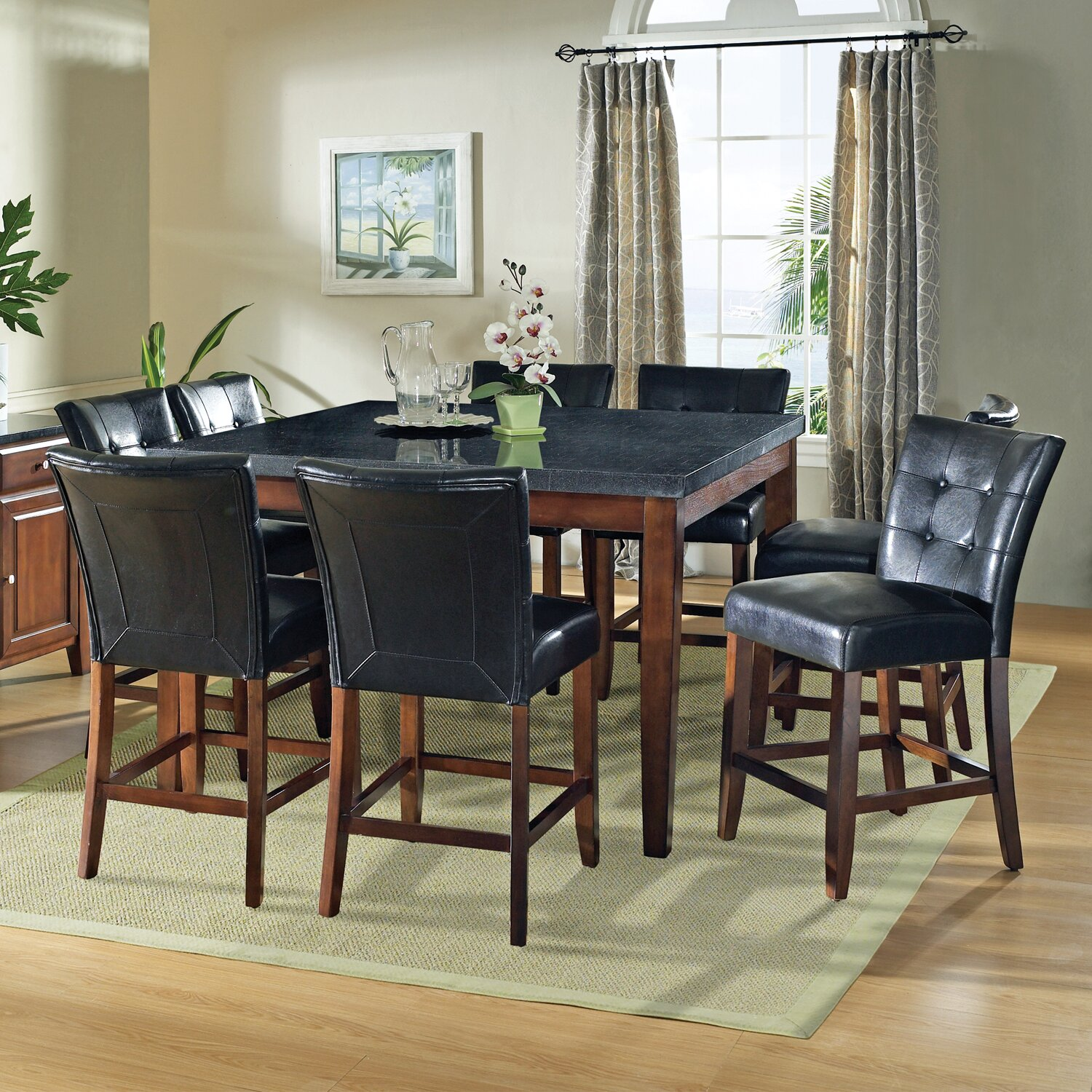 Darby home co matheson 5 piece counter height dining set for 9 piece dining room set counter height