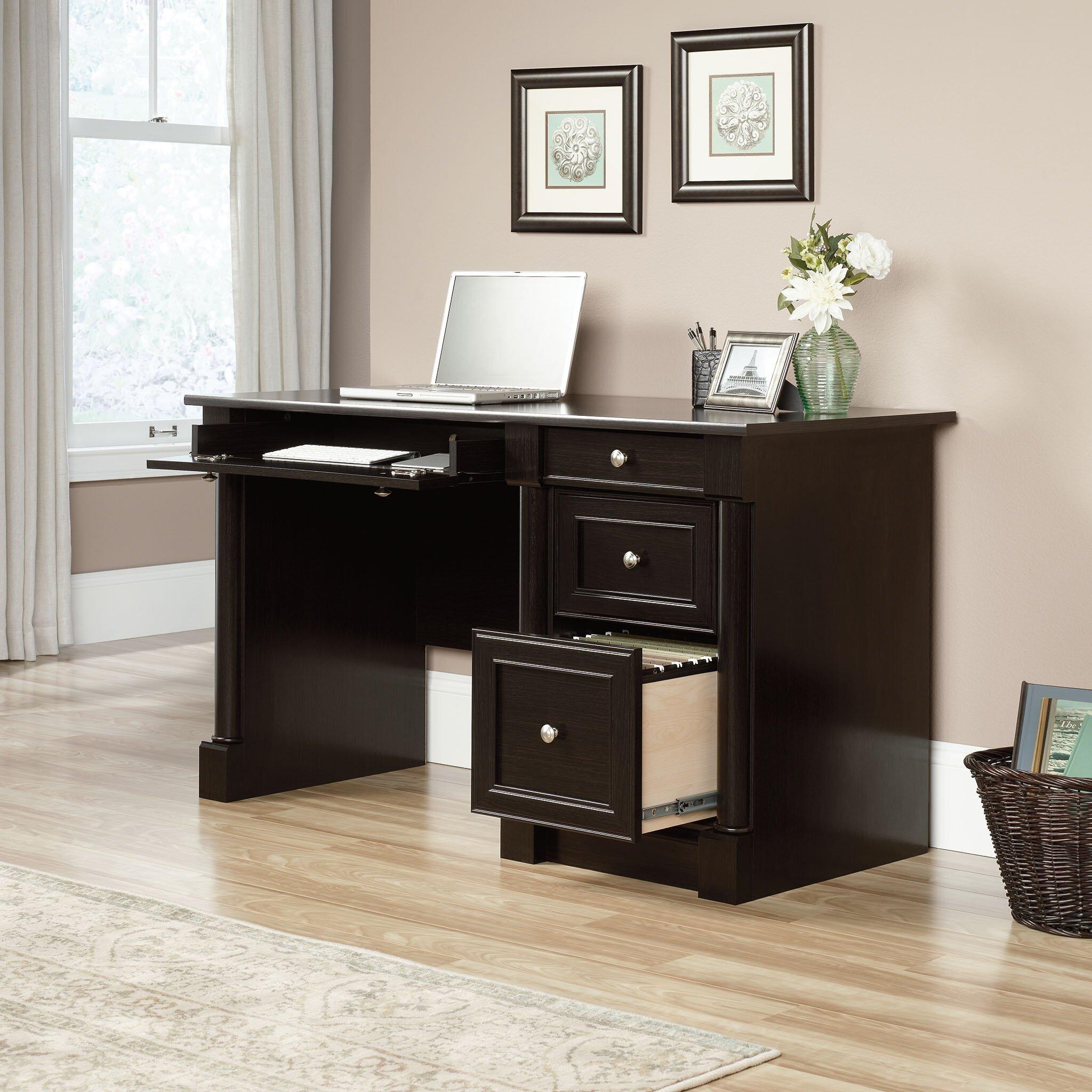 darby home co hennepin 4 drawer computer desk reviews wayfair. Black Bedroom Furniture Sets. Home Design Ideas