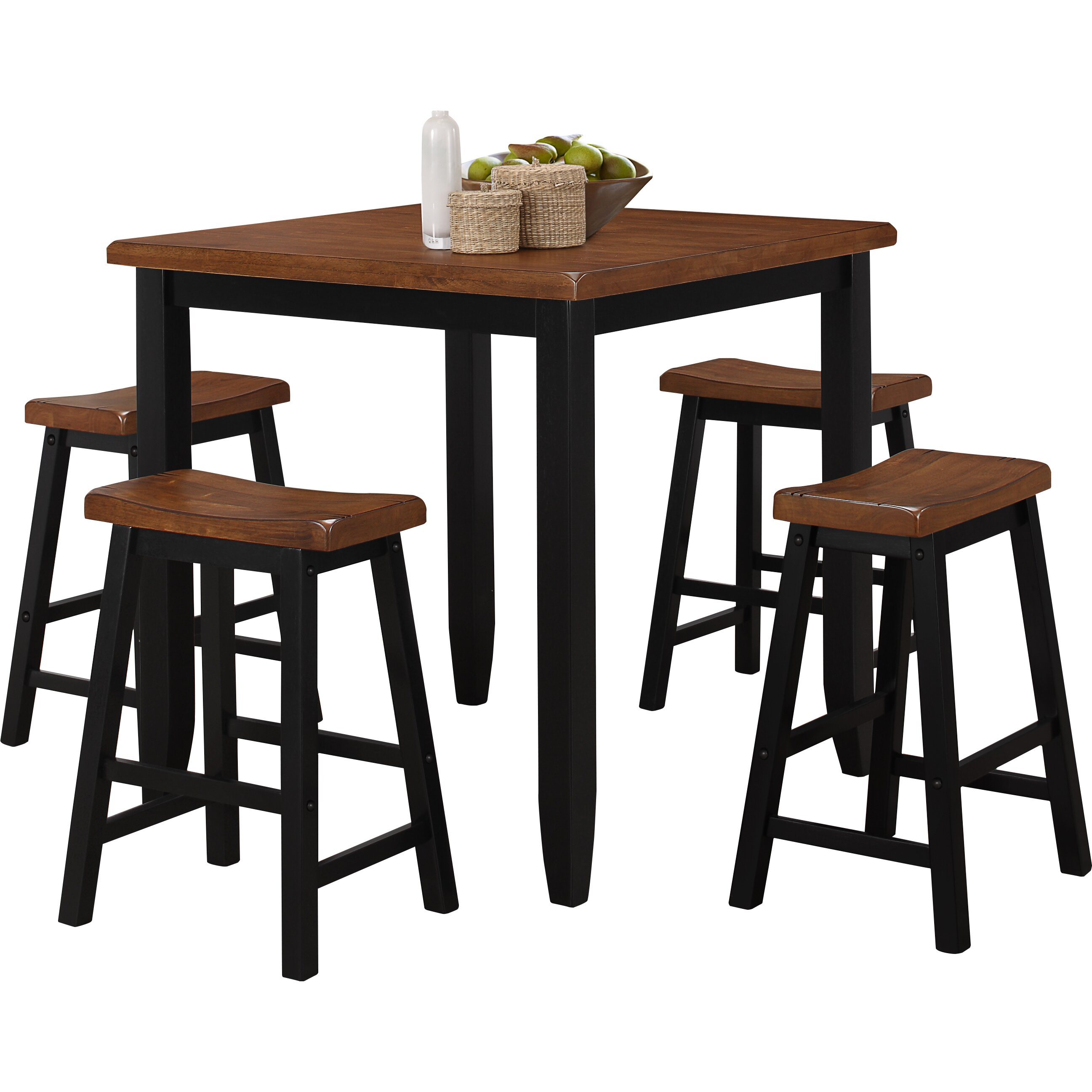 Darby Home Co Ruggerio 5 Piece Counter Height Pub Table