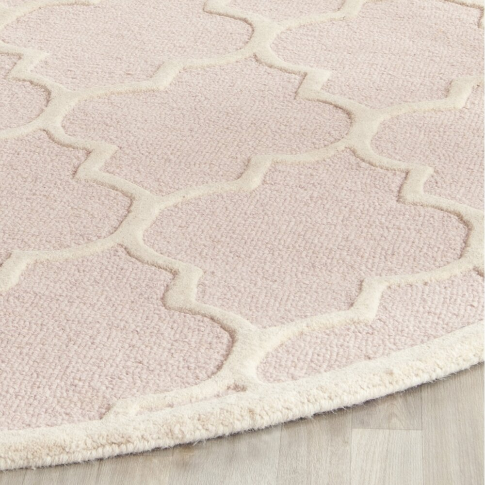 Darby Home Co Cambridge Light Pink/Ivory Area Rug
