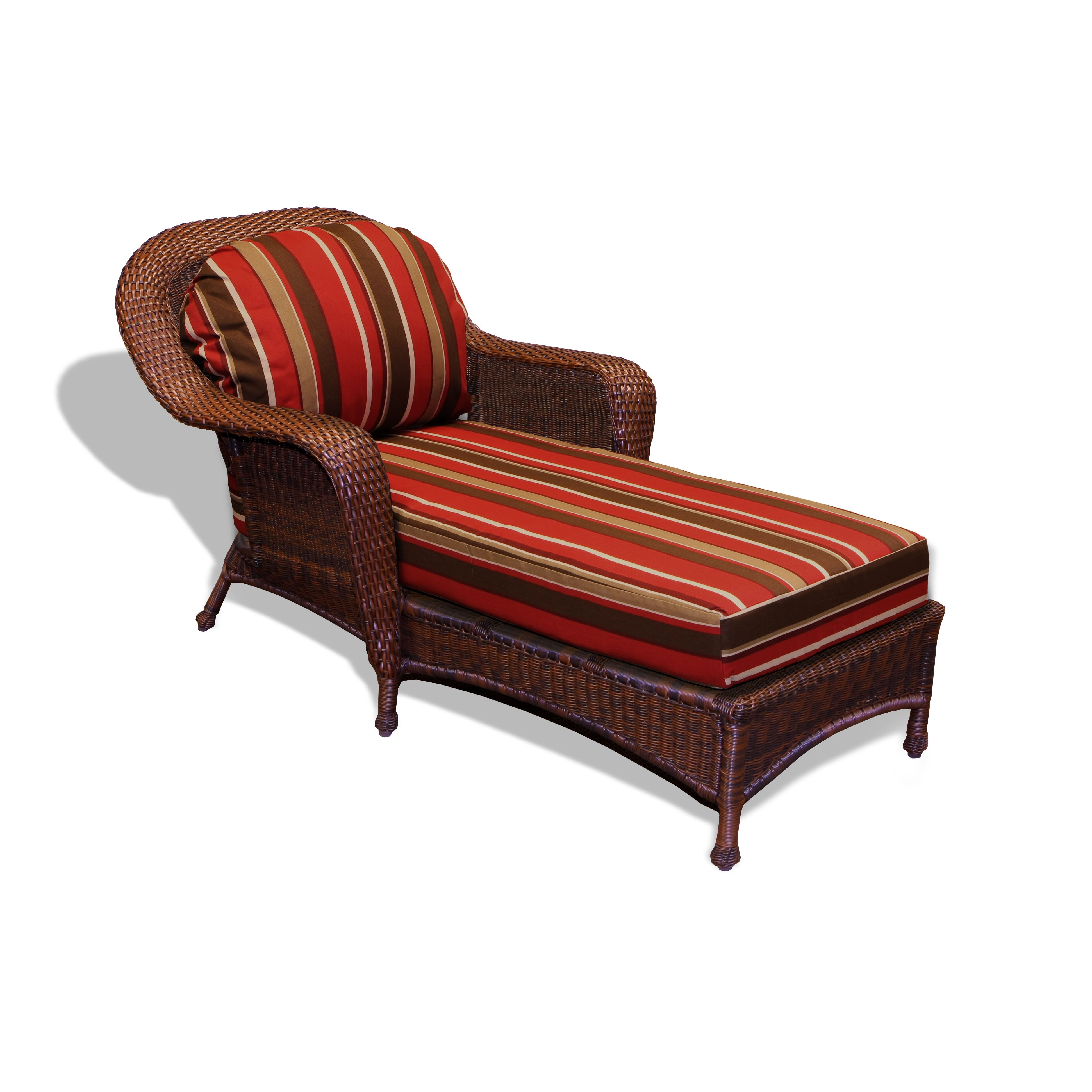 Darby home co fleischmann chaise lounge with cushion for Chaise lounge cushion sale