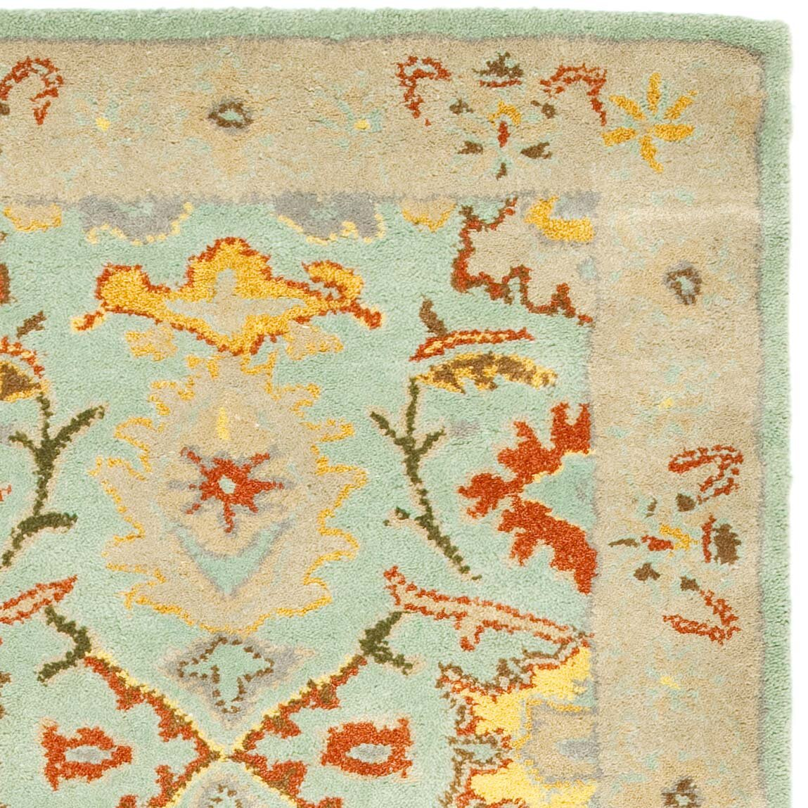 Dog Eating Wool Rug: Darby Home Co Heritage Light Blue & Ivory Rug & Reviews