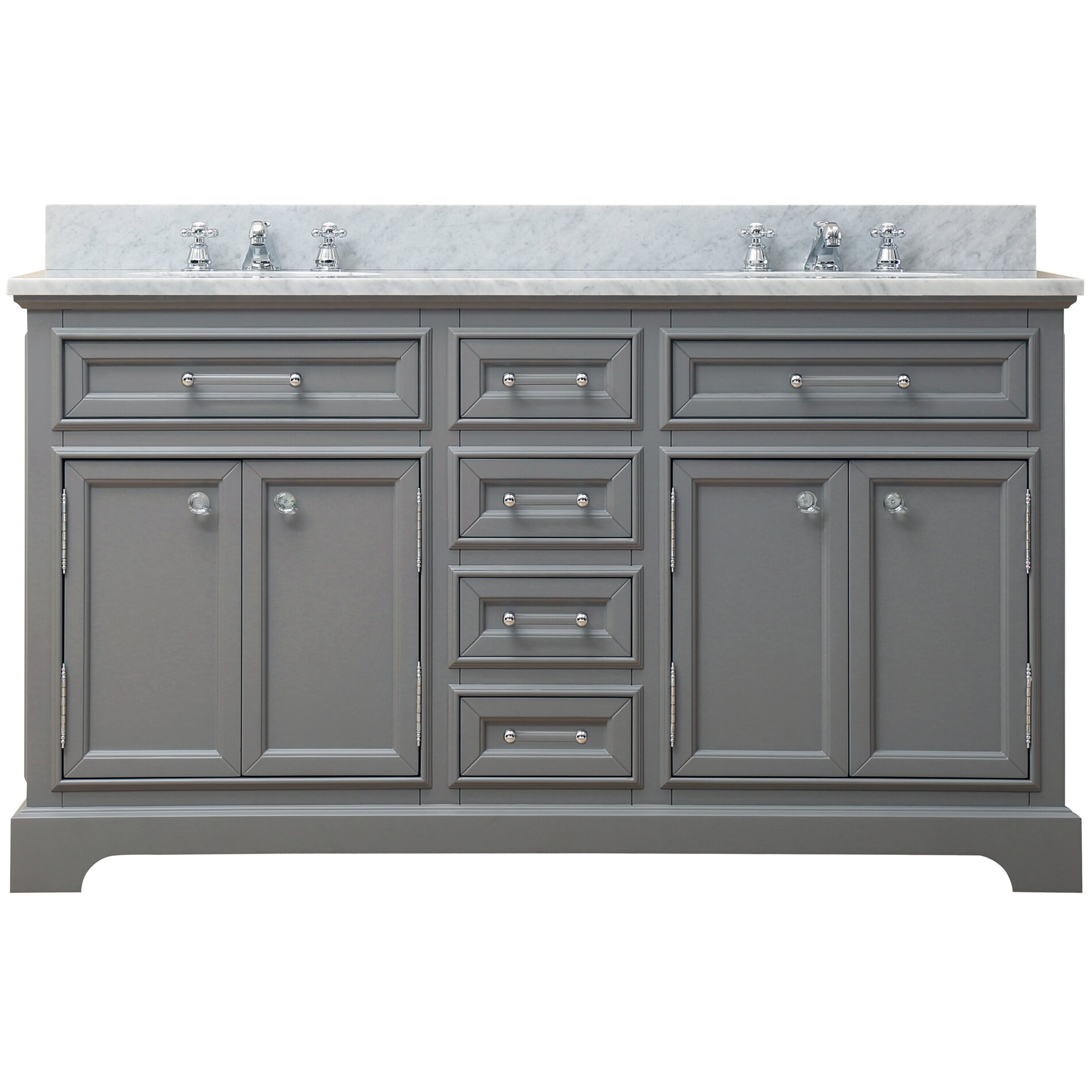 Darby Home Co Colchester 60 Double Sink Bathroom Vanity Set Grey Amp