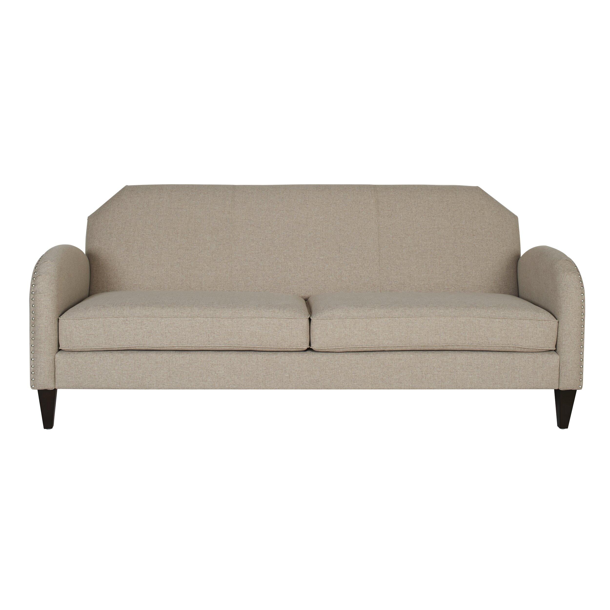 darby home co ella unique curved arm sofa wayfair. Black Bedroom Furniture Sets. Home Design Ideas