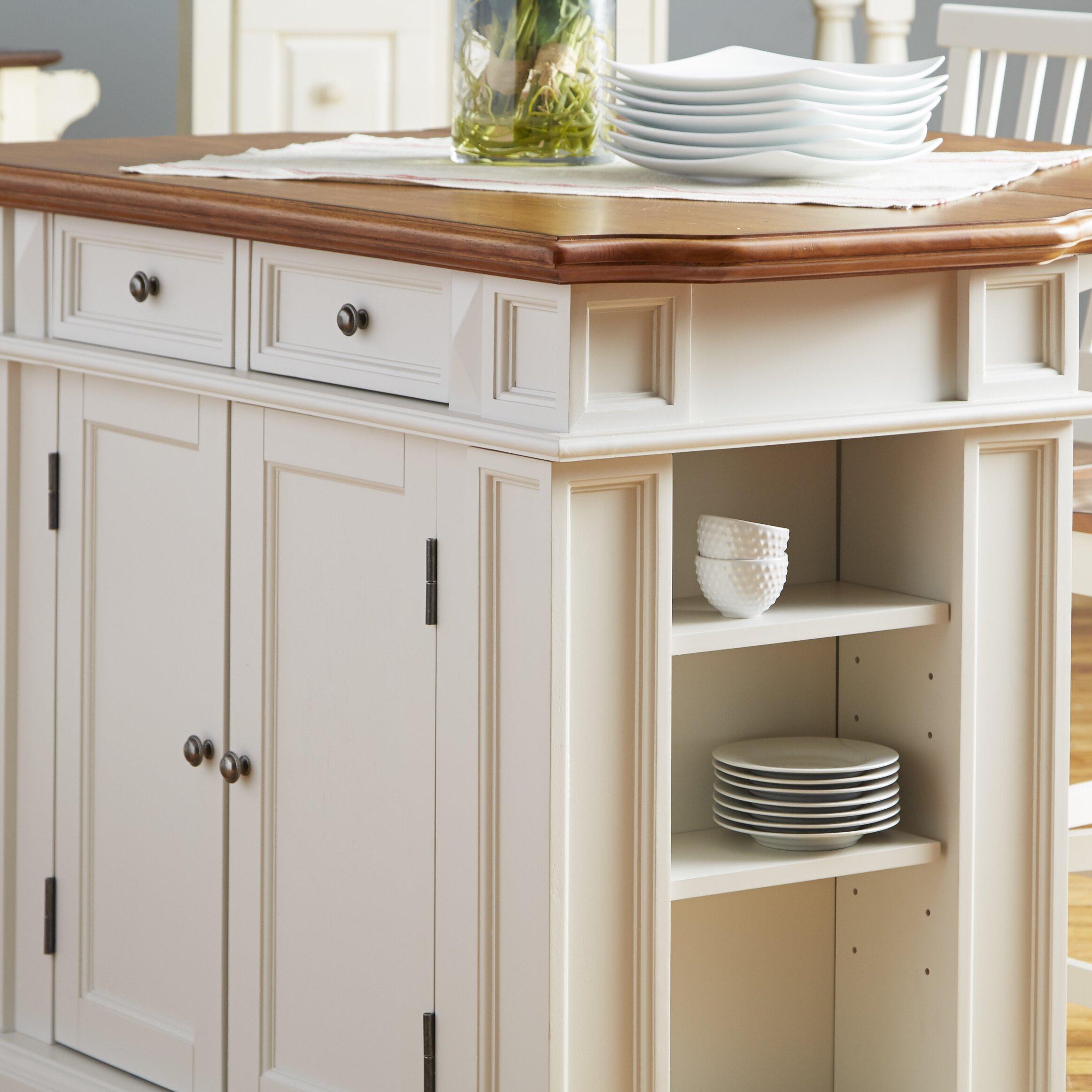 Kitchen Set Island: Darby Home Co Mattice 3 Piece Kitchen Island Set & Reviews