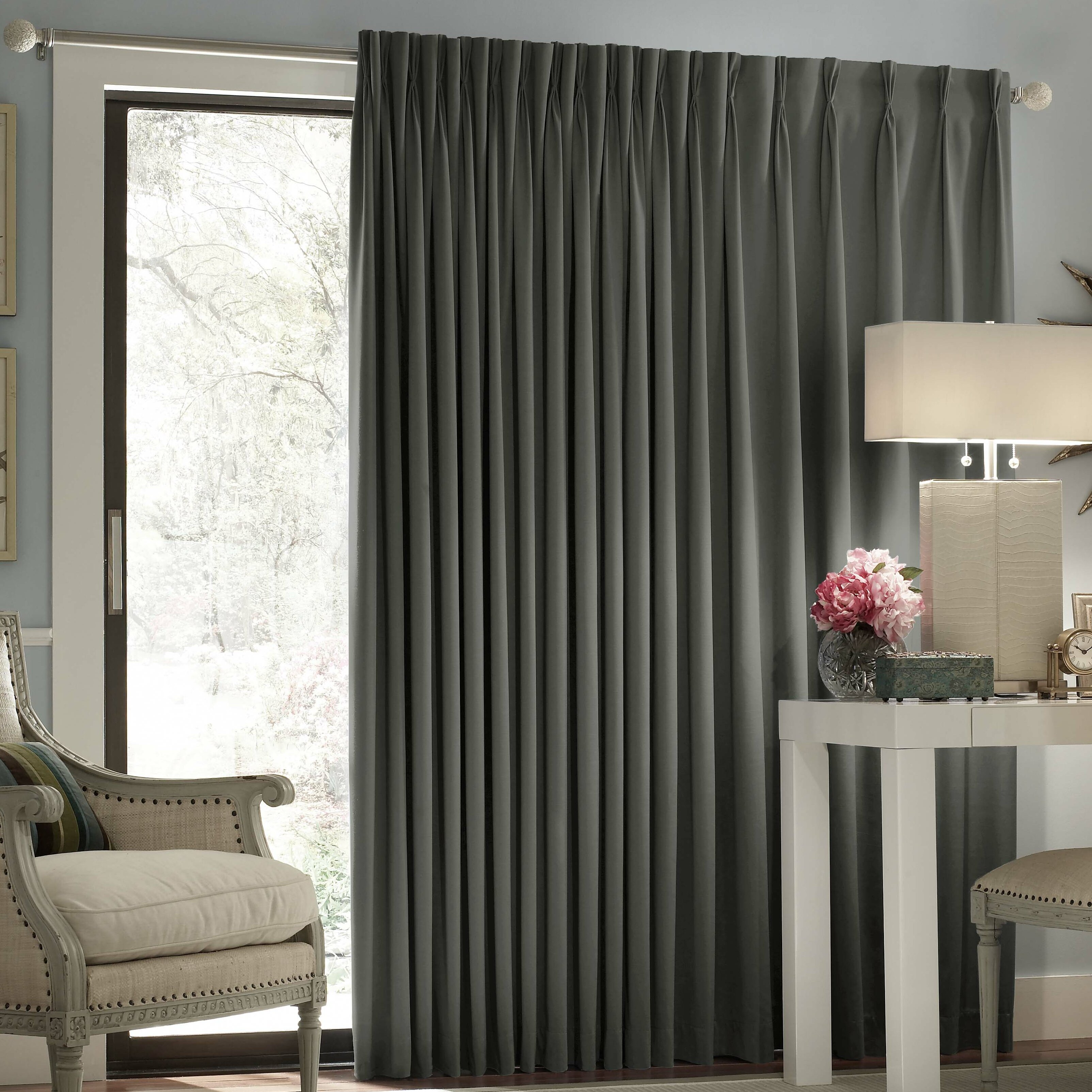 darby home co ashville patio door blackout single curtain