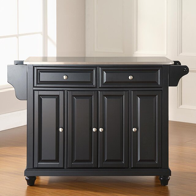Darby Home Co Hanoverton Kitchen Island With Stainless