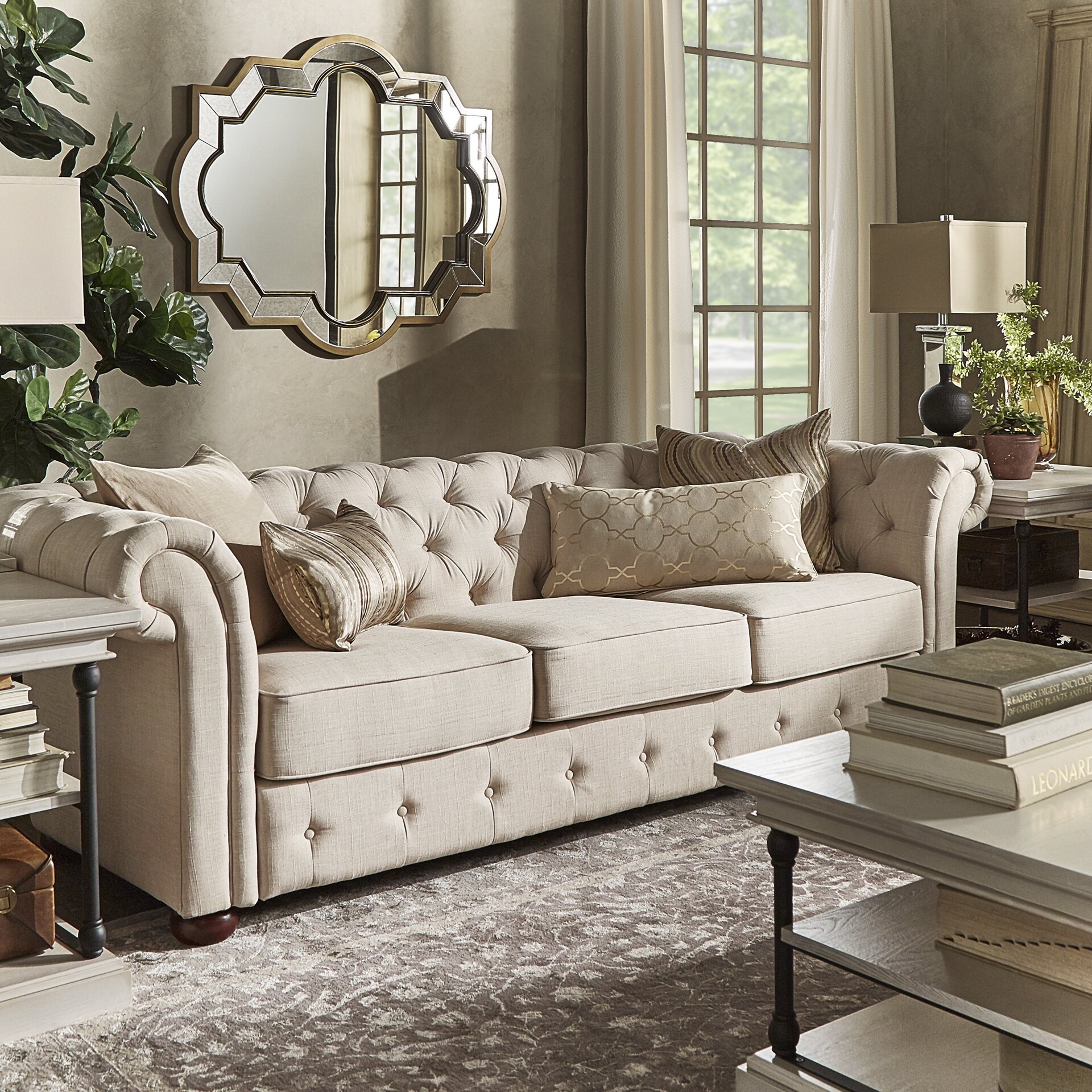 Darby Home Co Toulon Tufted Button Sofa & Reviews | Wayfair