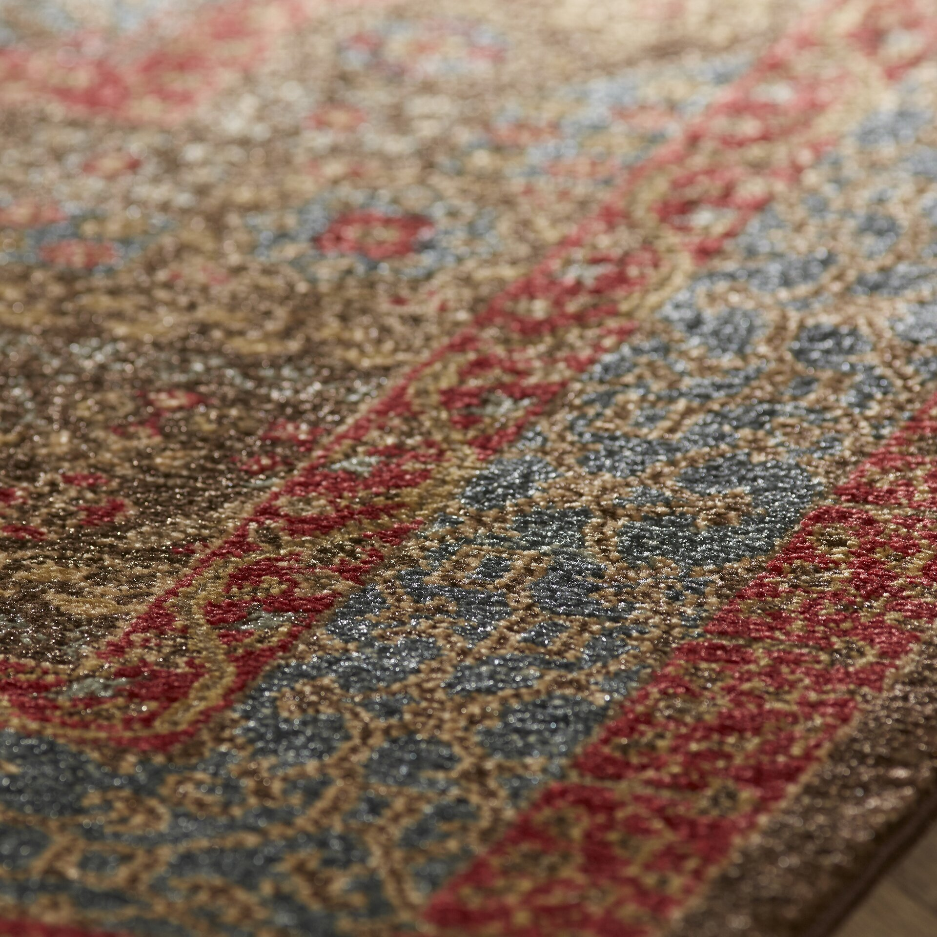 Darby home co alto blue red area rug reviews wayfair for Red and blue area rug