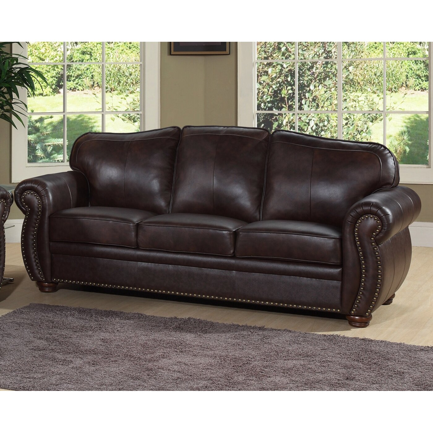 Darby home co morgenstern 3 piece leather living room set for 3 piece leather living room set