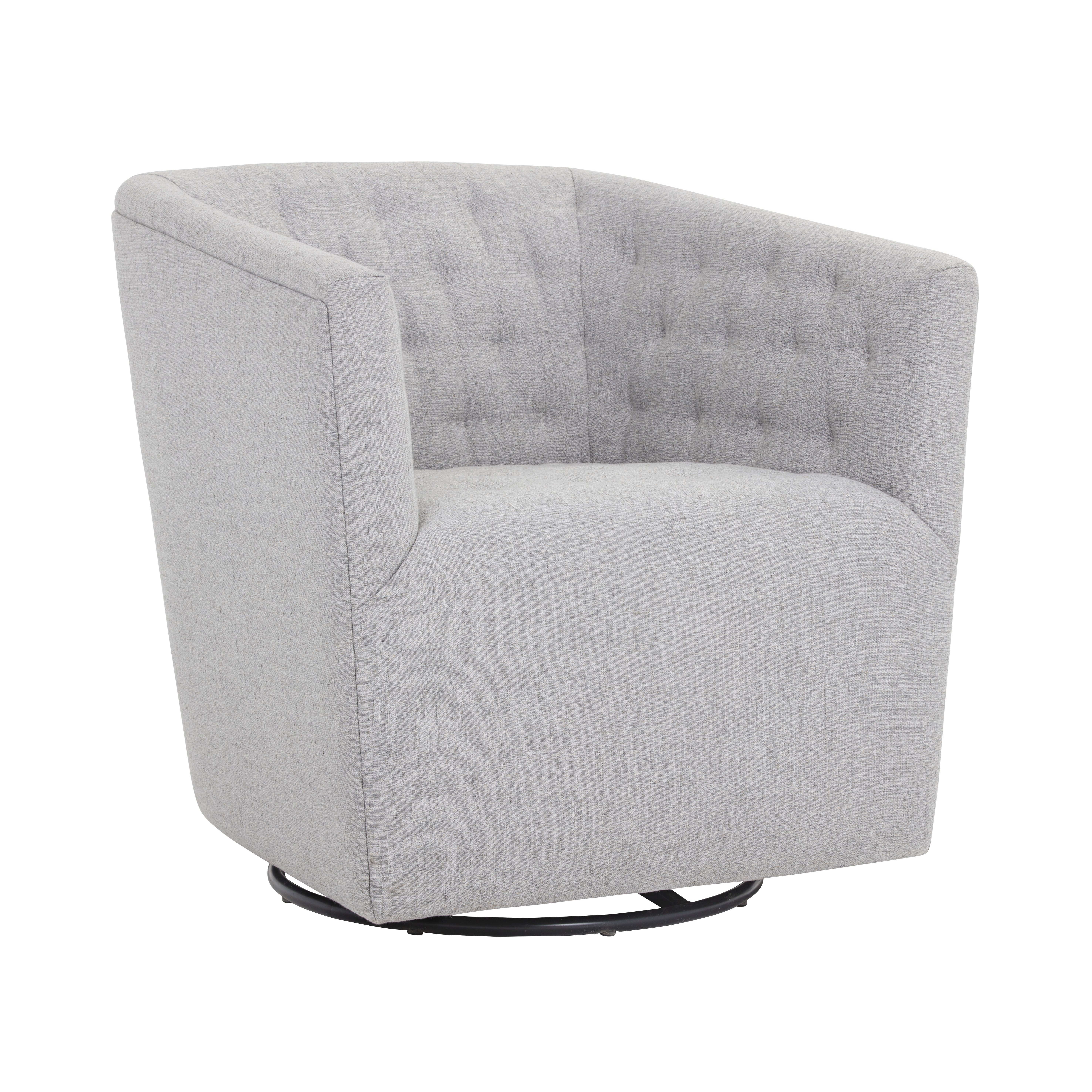 Darby Home Co Cornelius Reeves Swivel Barrel Chair Wayfair