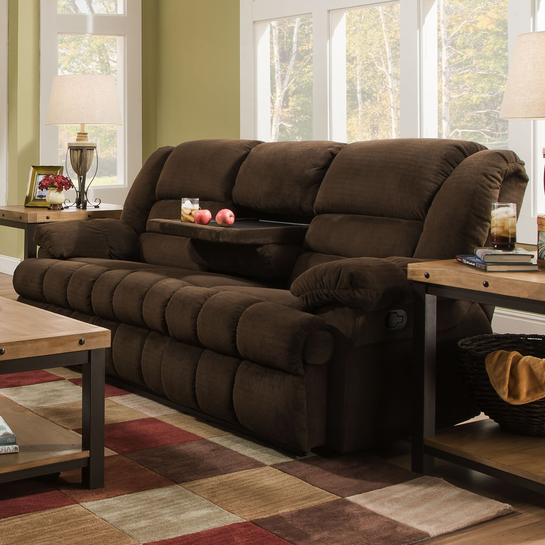 Darby Home Co Simmons Upholstery Mendes Double Motion Sofa